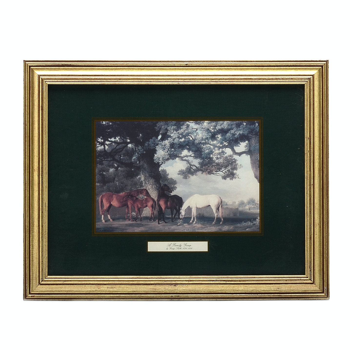 "George Stubbs Offset Lithograph Print ""A Family Group"""