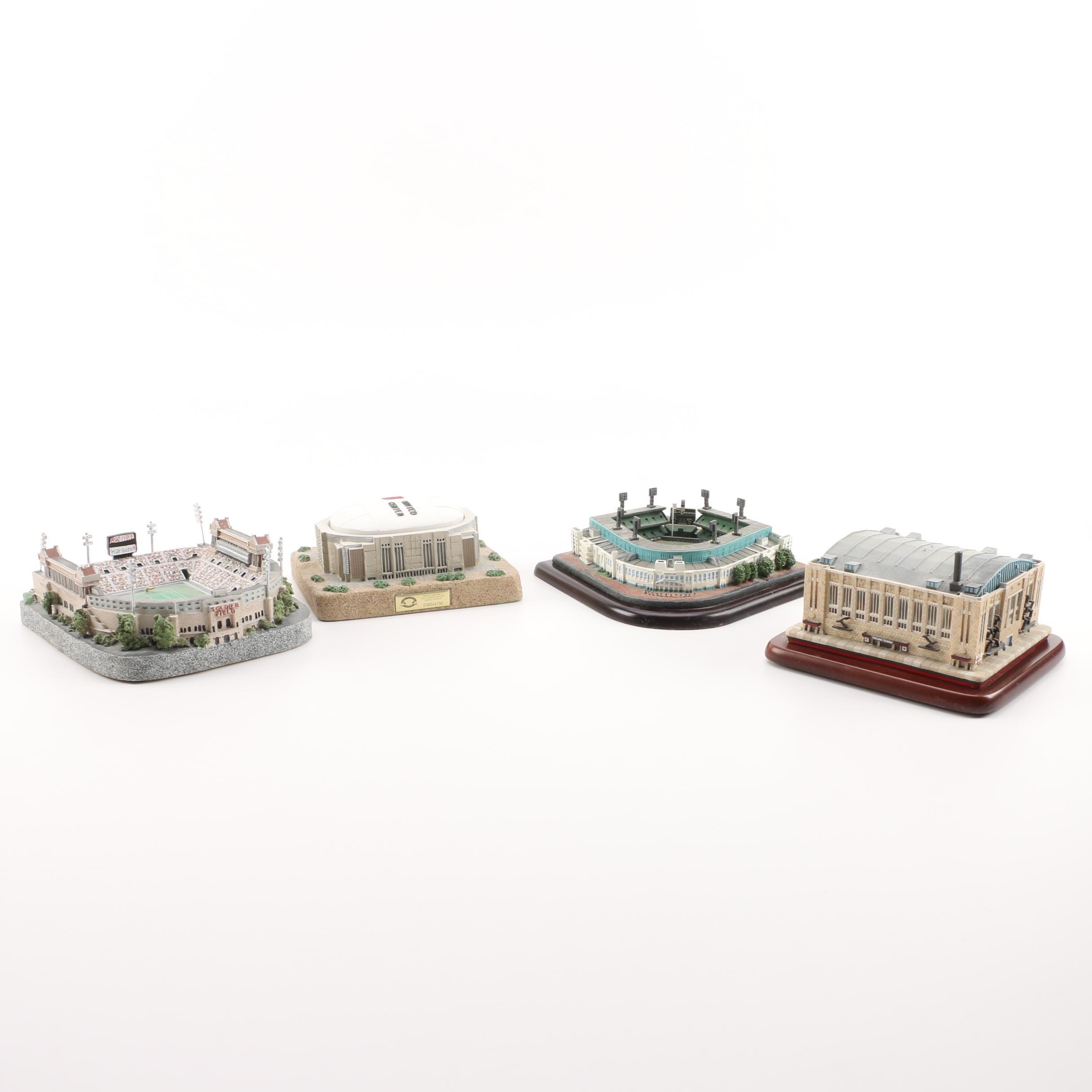 Limited Edition Miniature Illinois Sports Arenas