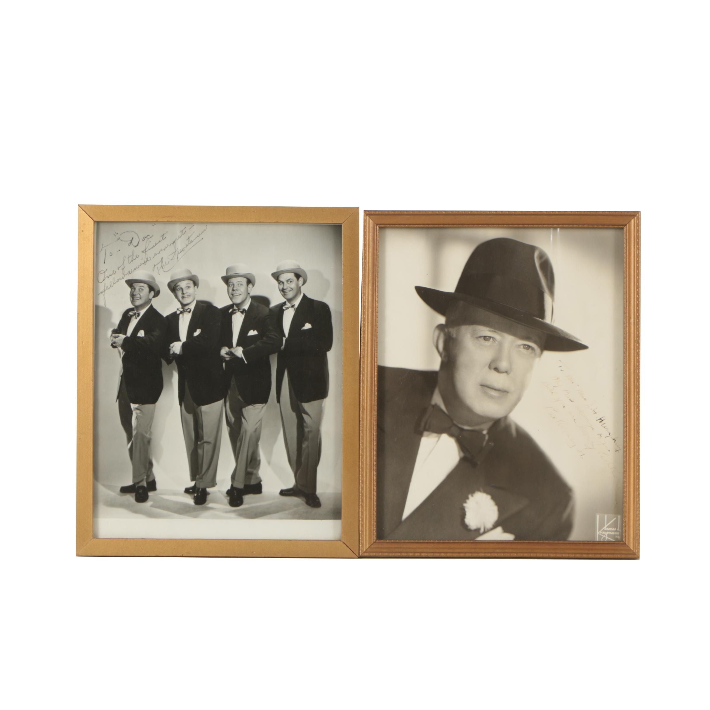 Black and White Signed Photographs of Pat Rooney Sr. and The Sportsmen