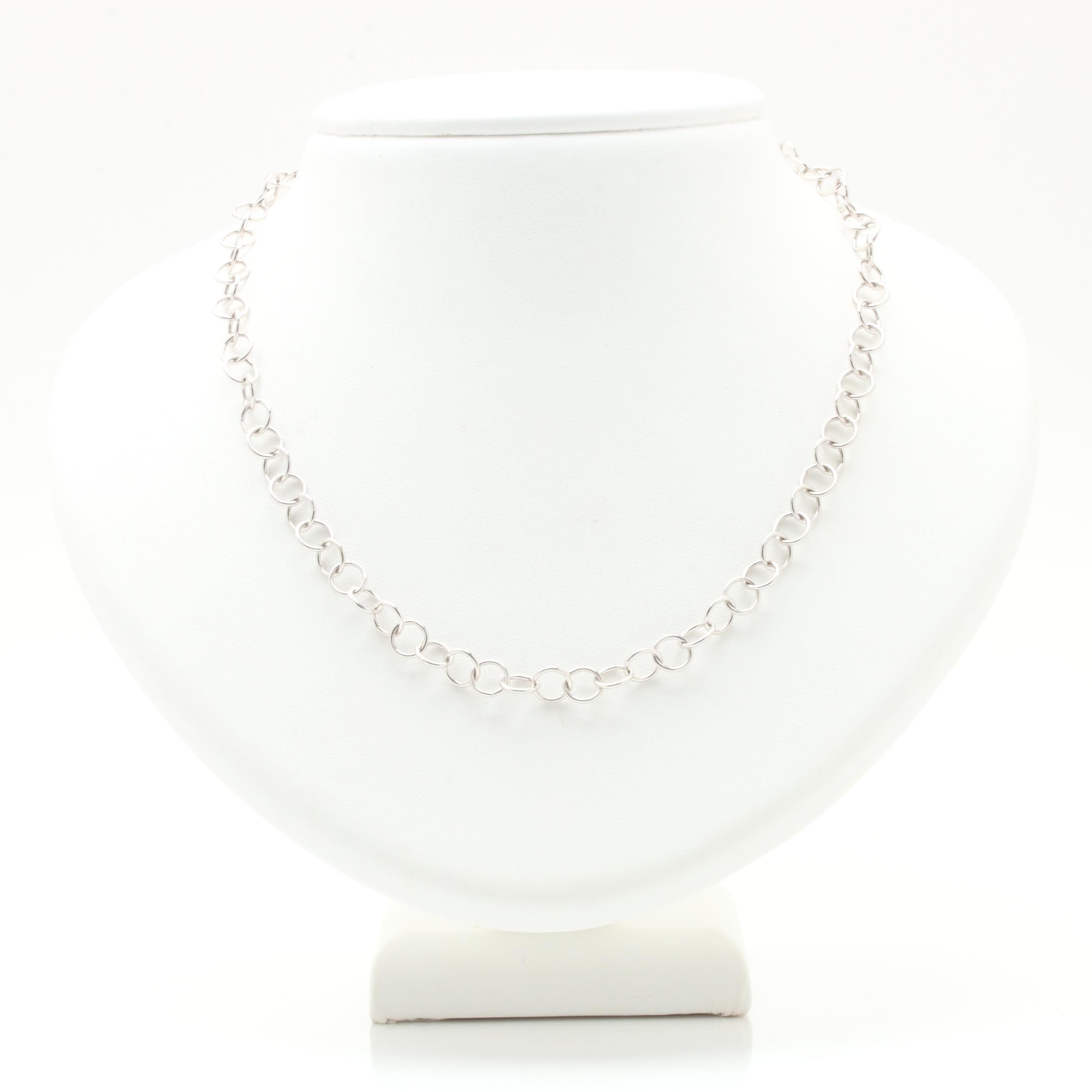 Temple St. Clair 18K White Gold Chain Necklace