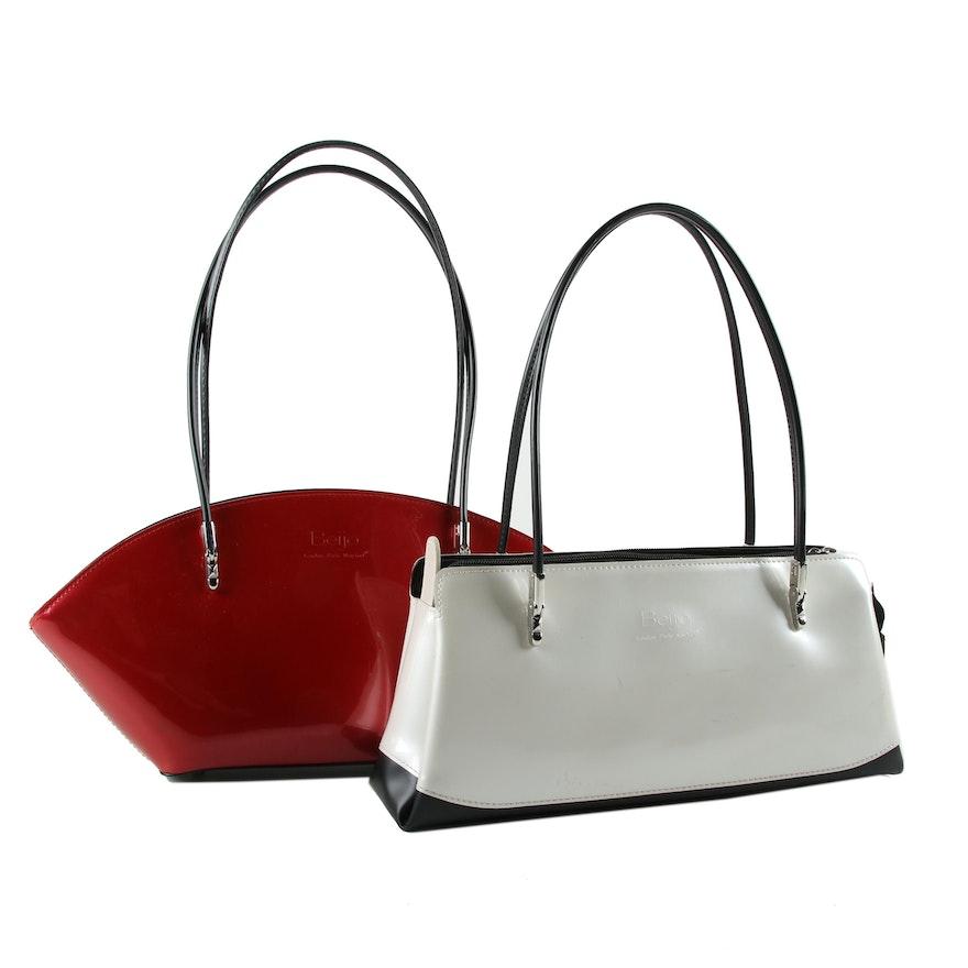 Beijo Patent Leather Handbags