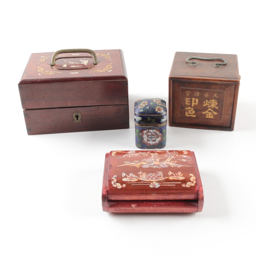 Chinese Decorative Boxes EBTH Interesting Chinese Decorative Boxes
