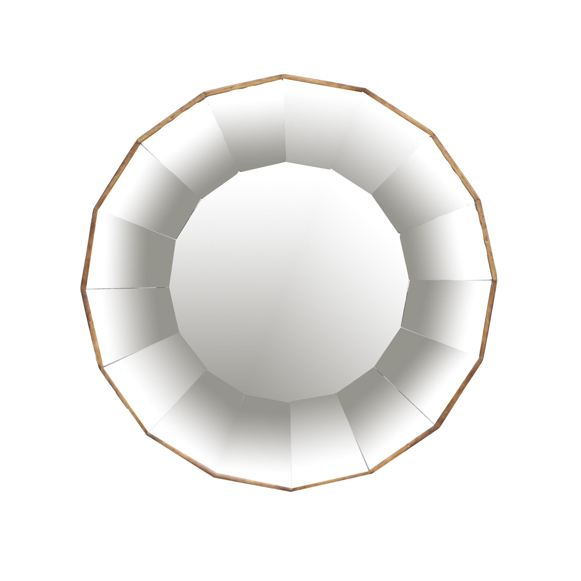Faceted Circular Wall Mirror
