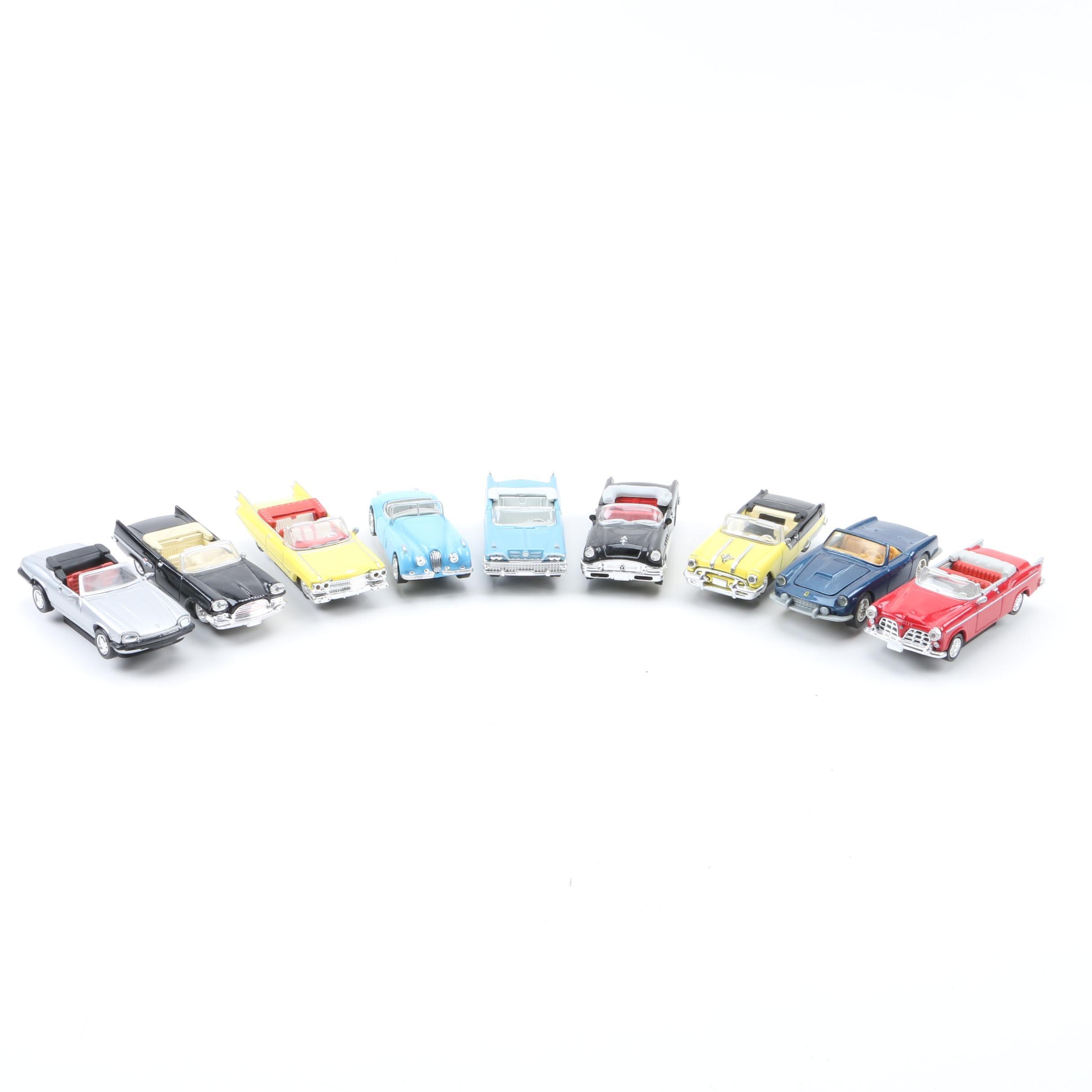 Miniature Scale Replica Die-Cast Convertibles