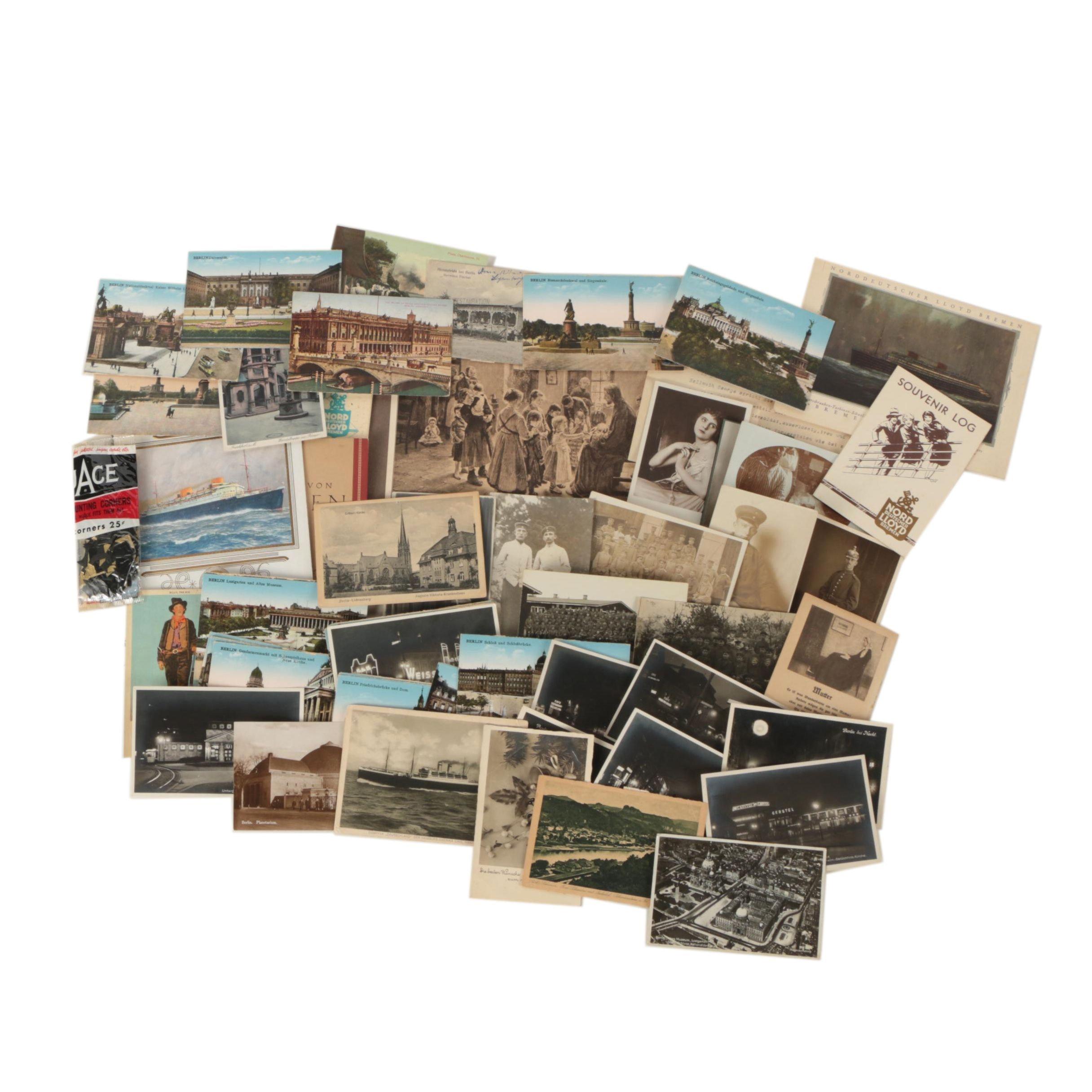 German Military Photographs, Postcards, and Cruise Ephemera