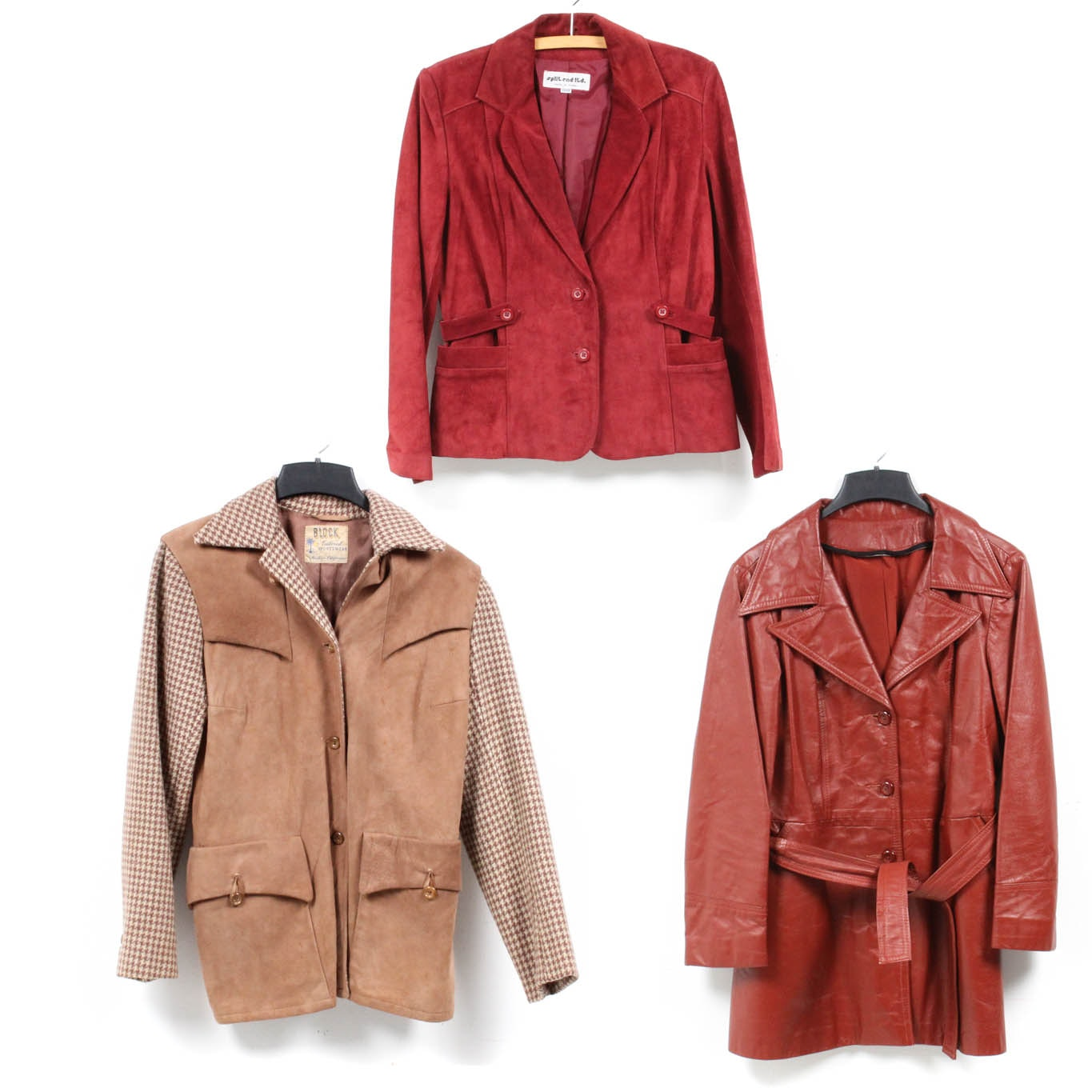 Vintage Coats with Leather, Suede and Houndstooth