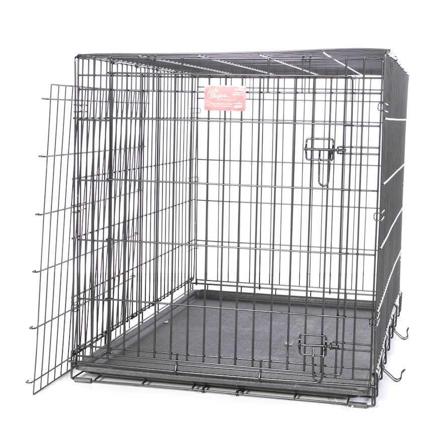 Midwest Life Stages 1642 Single Door Folding Dog Crate Ebth