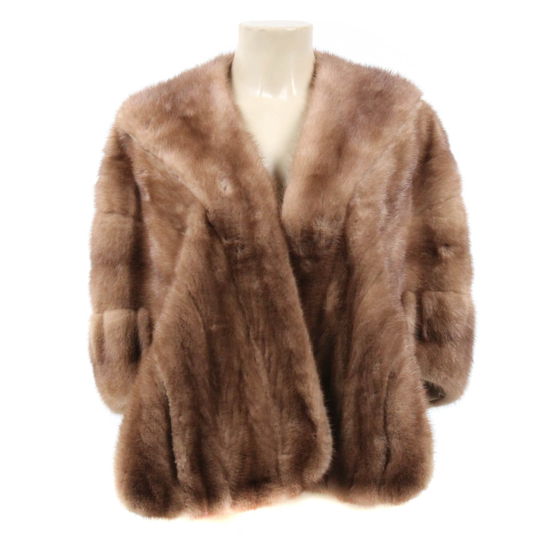 Vintage Sharon Store Autumn Haze Mink Fur Stole