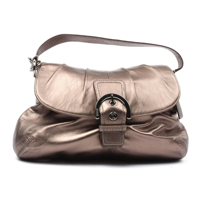 Coach Soho Bronze Metallic Leather Handbag