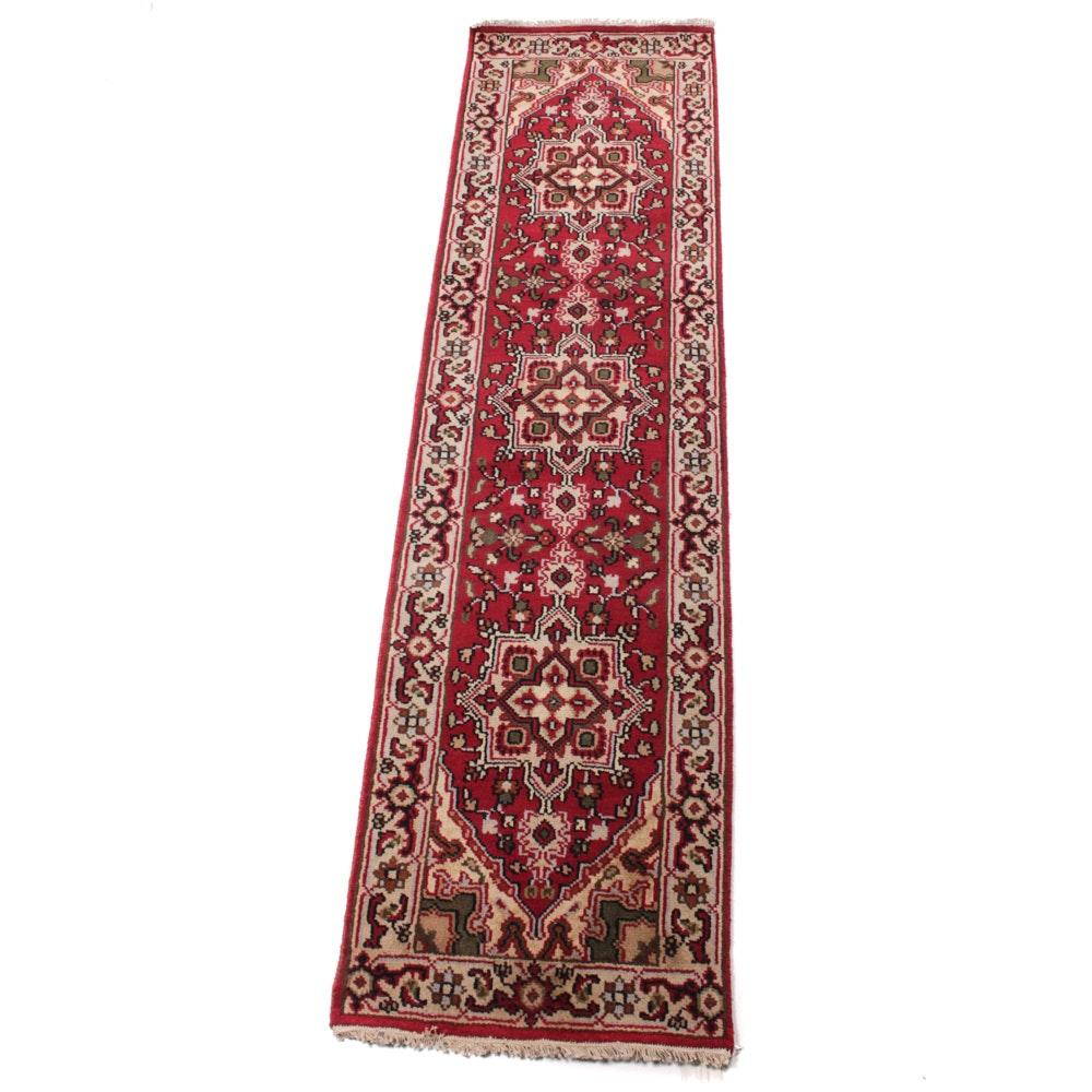 Vintage Hand-Knotted Persian Bakhshayesh Heriz Rug