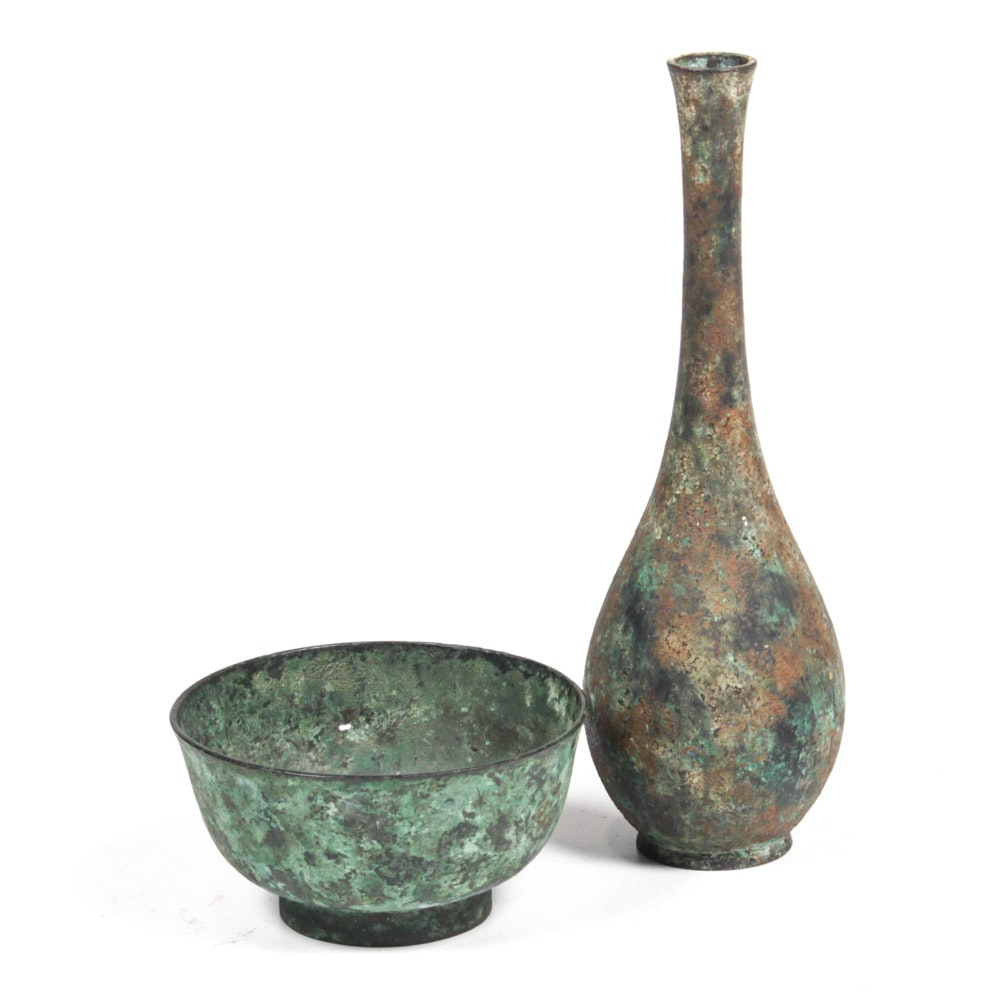 Late Qing Dynasty Chinese Metal Vessels