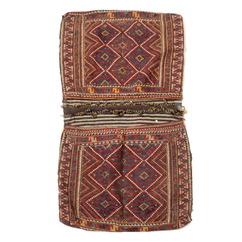 Hand-Woven Uzbek Style Kilim Wool Saddlebag