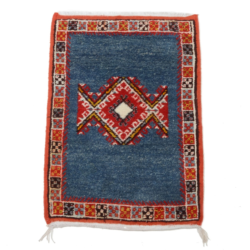 Hand-Knotted Moroccan Style Wool Area Rug