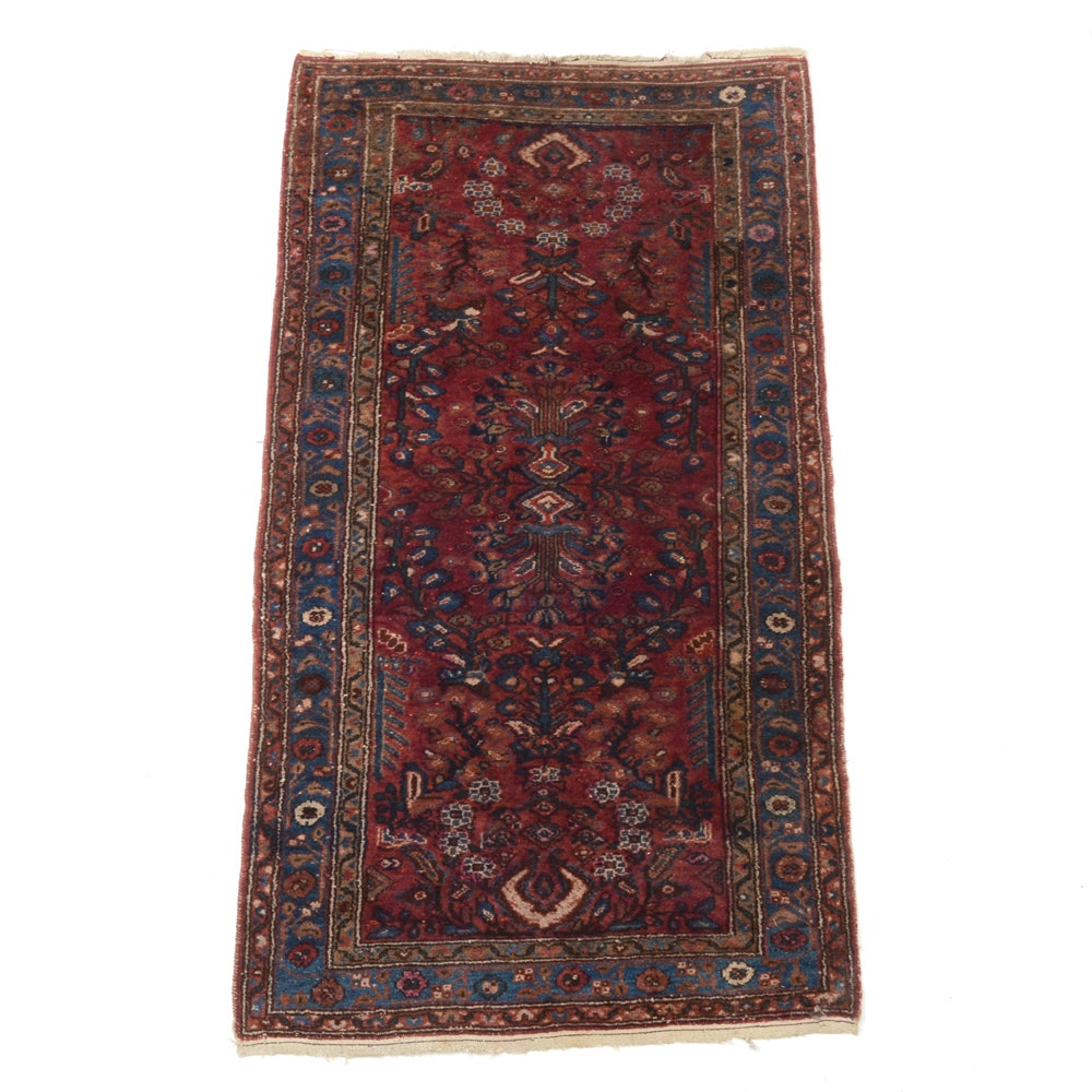 Hand-Knotted Persian Lilihan Style Area Rug