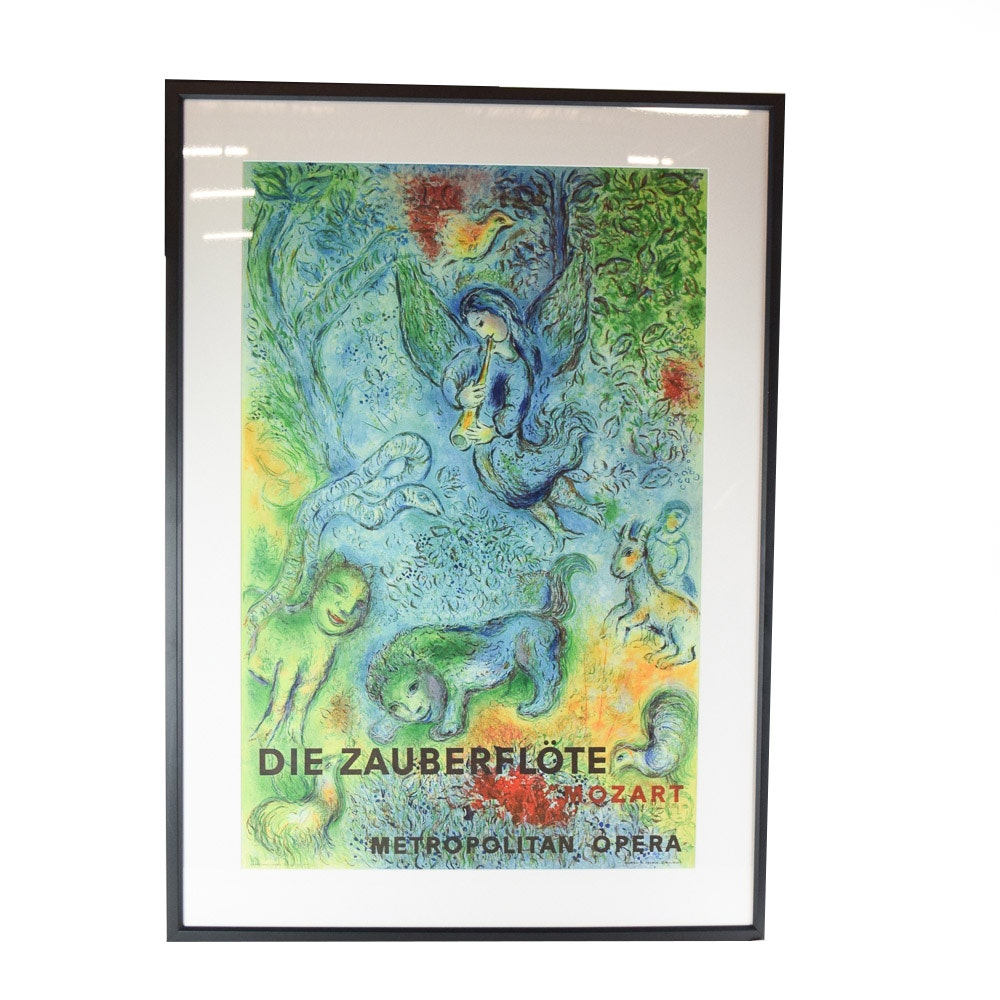 "Reproduction Print After Marc Chagall ""The Magic Flute (Die Zauberflote)"""