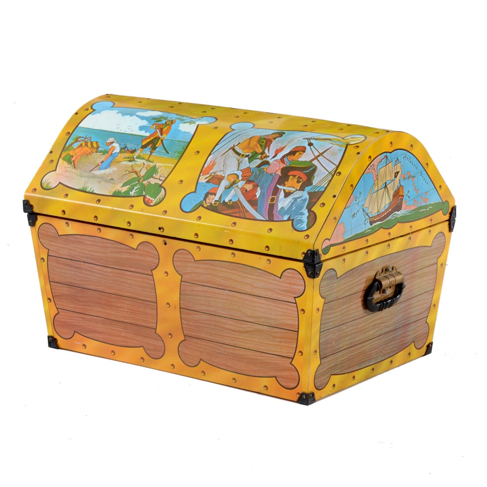 Vintage Pirate Themed Toy Box