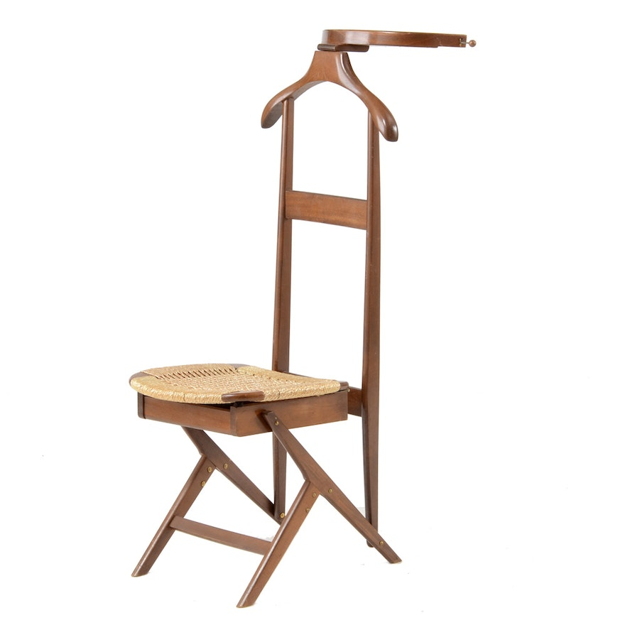 Vintage Valet Stand with Seat ... - Vintage Valet Stand With Seat : EBTH