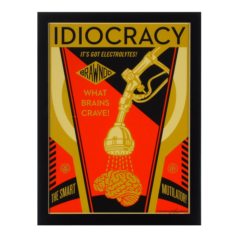 """Shepard Fairey Limited Edition Serigraph """"Idiocracy"""""""