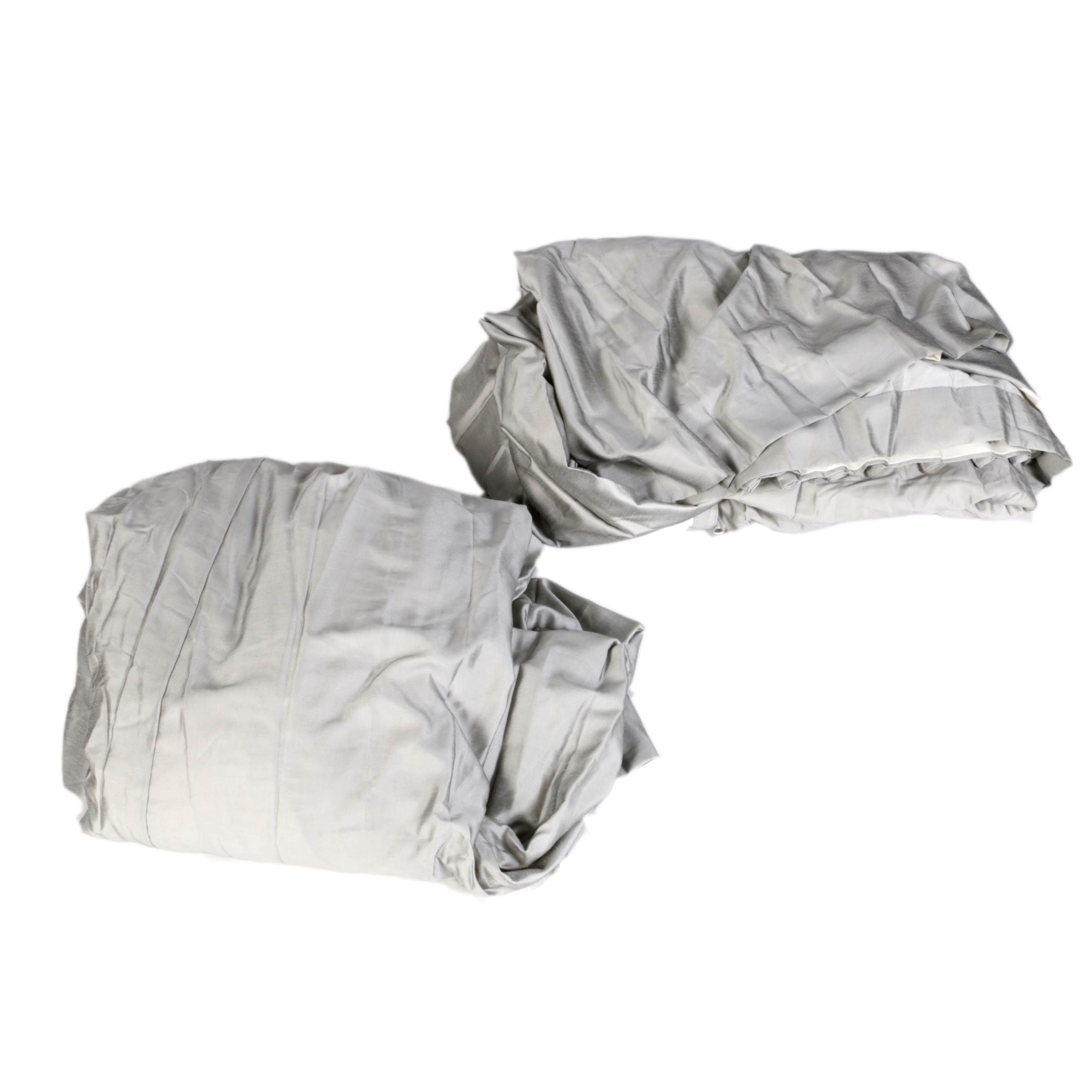 Silver Gray Custom Pinch Pleat Draperies