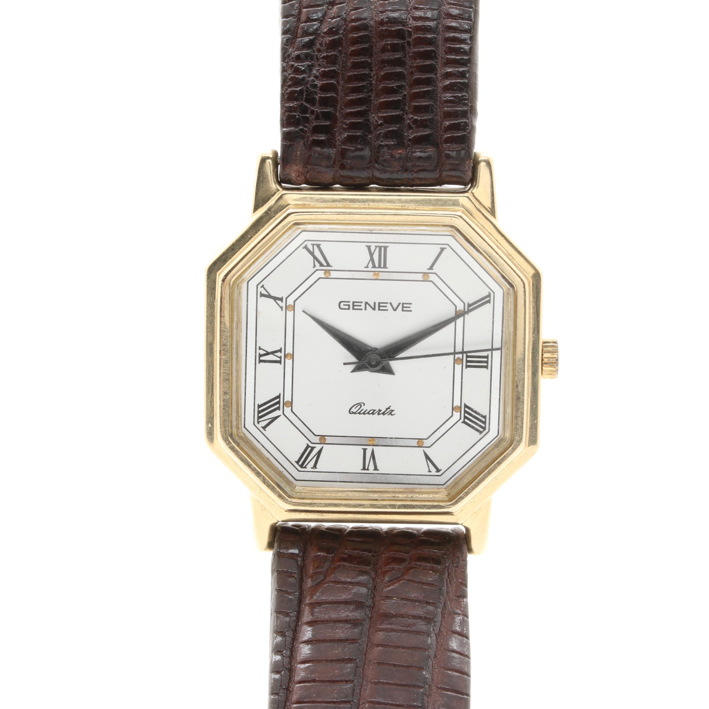 Vintage Geneve 14K Yellow Gold Wristwatch