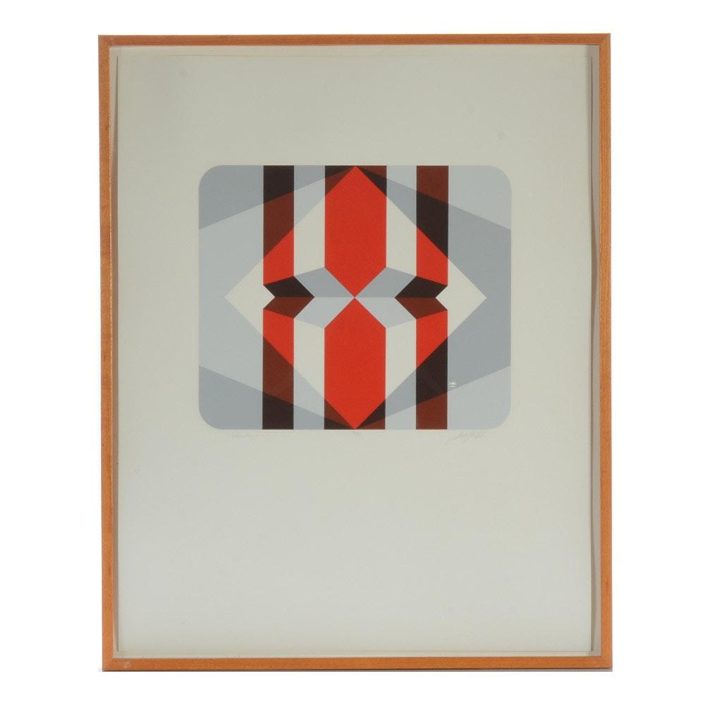 "Marko Spalatin Limited Edition Serigraph ""Rhombus I"""