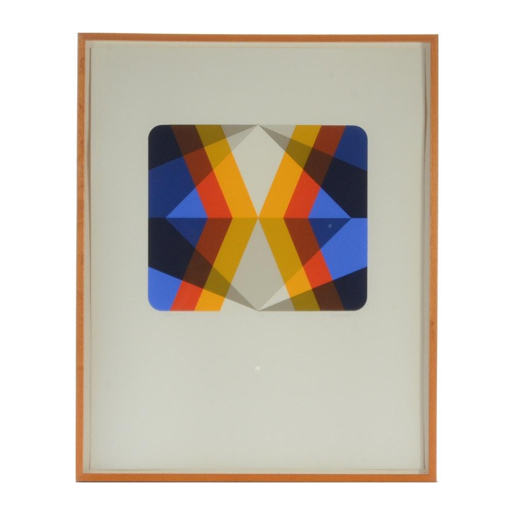 "Marko Spalatin Limited Edition Serigraph ""Rhombus II"""