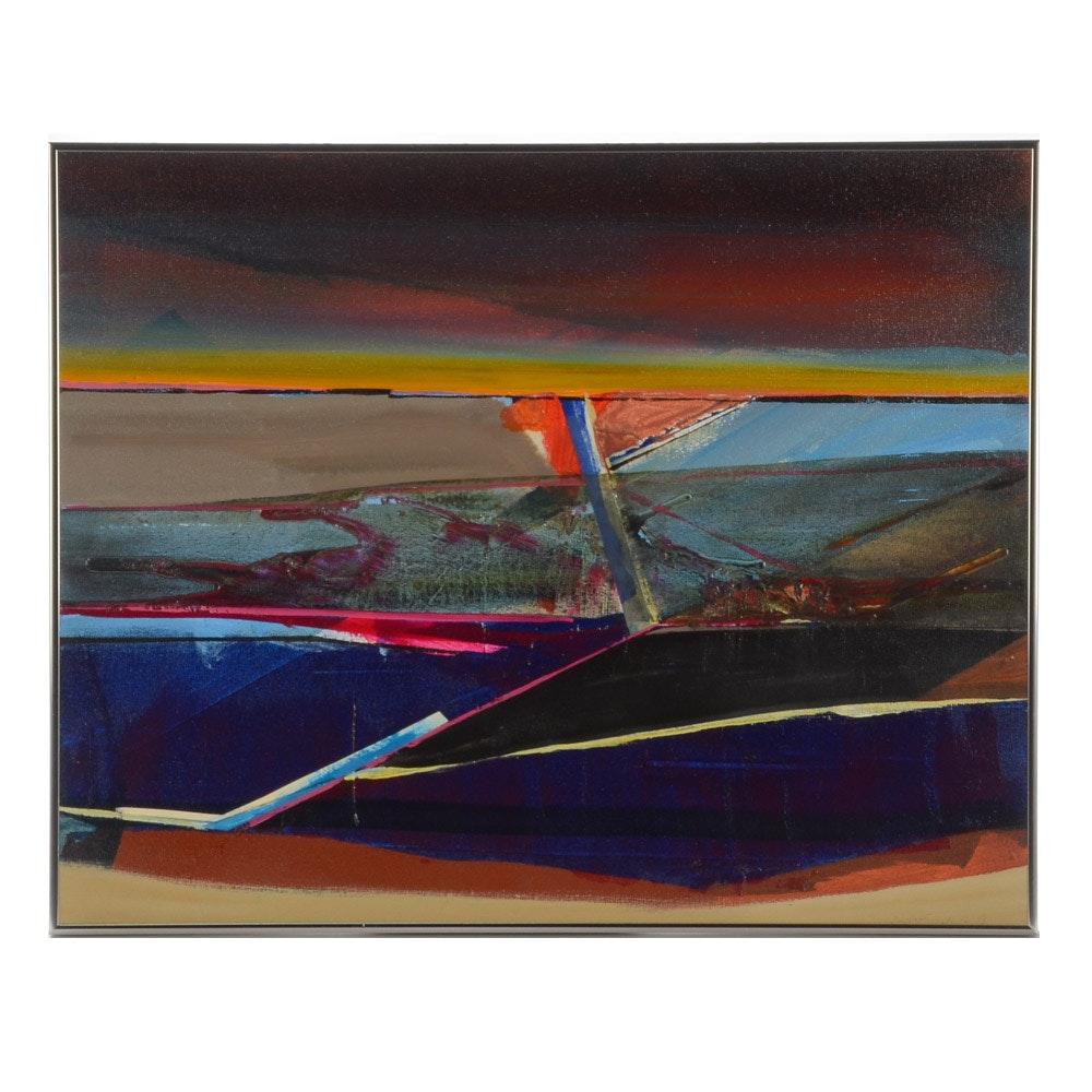 Kurt Feuerherm Abstract Mixed Media Painting