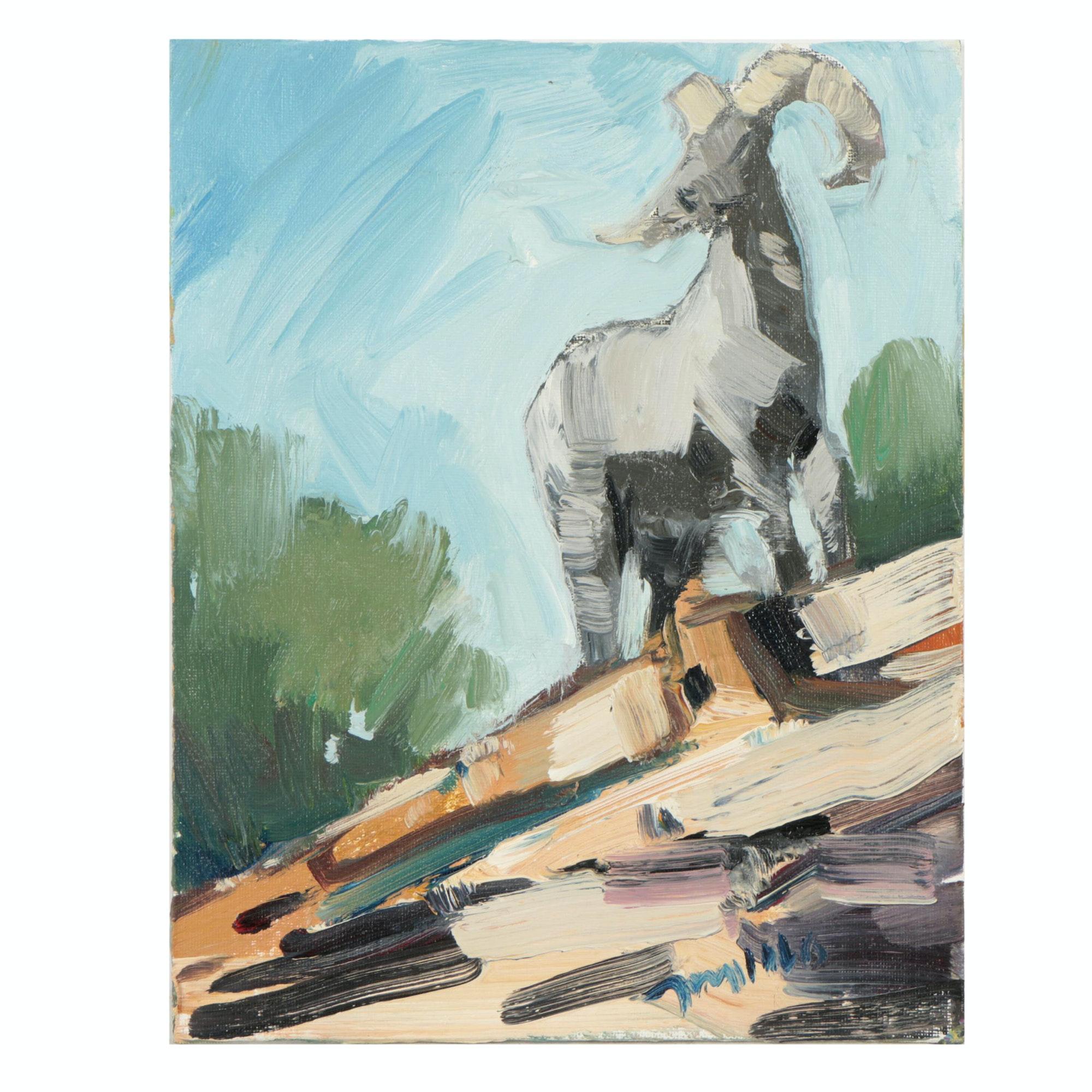 "Jose Trujillo Oil Painting ""Big Horn"""