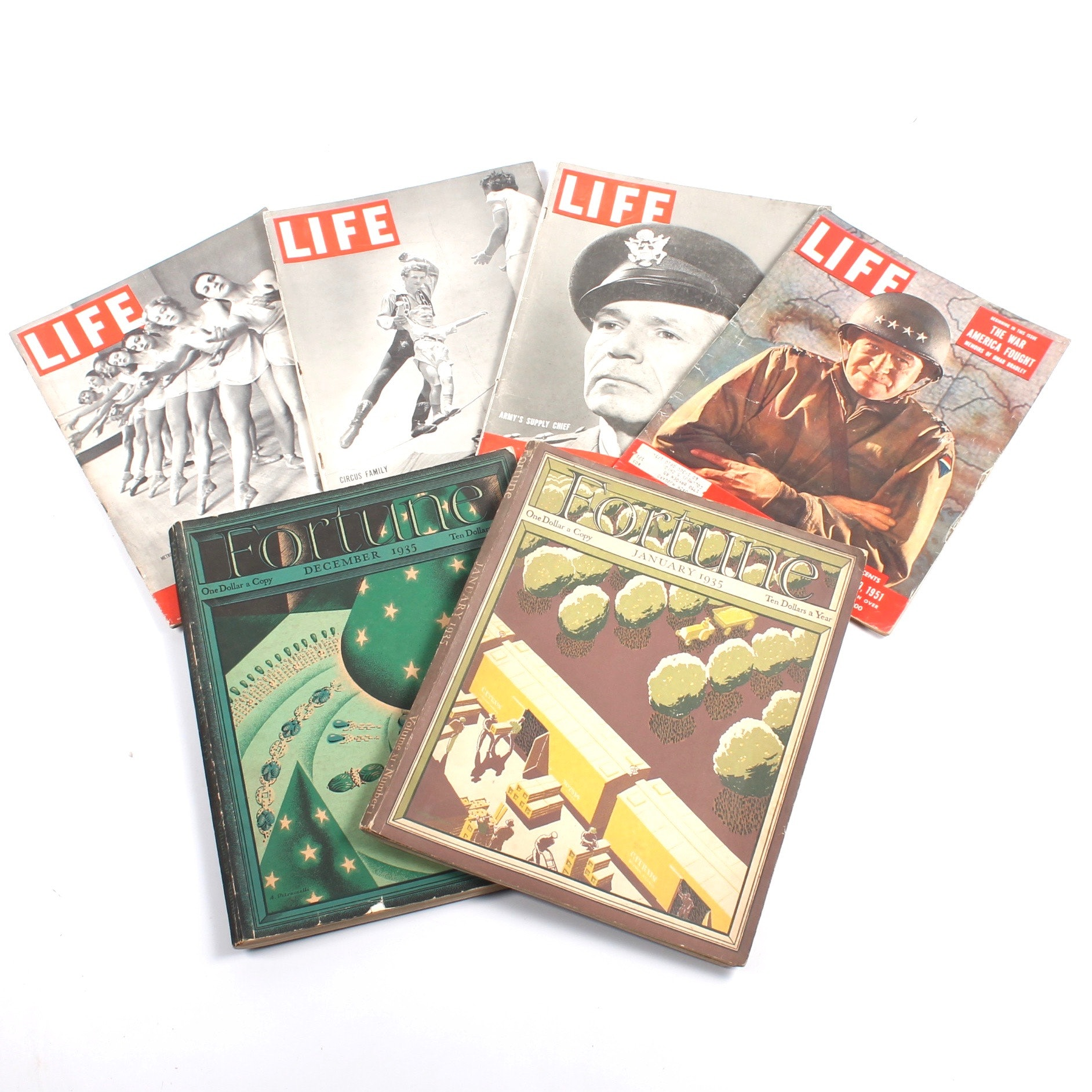 """Vintage """"Life"""" and """"Fortune"""" Magazines"""
