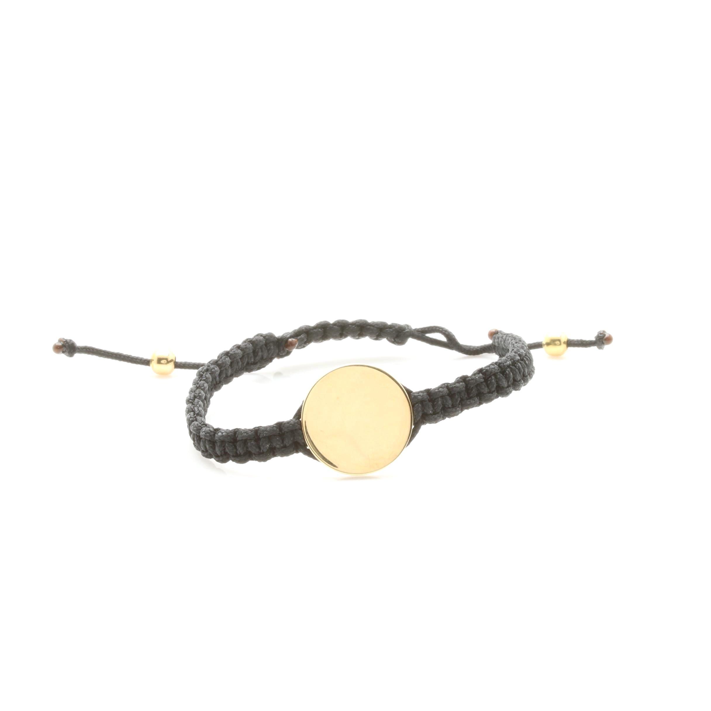 14K Yellow Gold Adjustable Macrame Bracelet