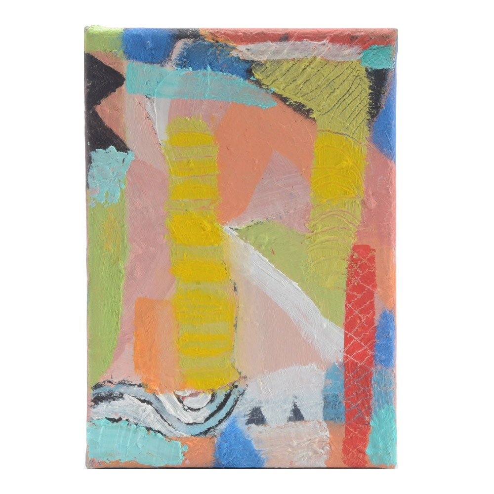 Trey Hoover Original Miniature Abstract Oil Painting on Canvas