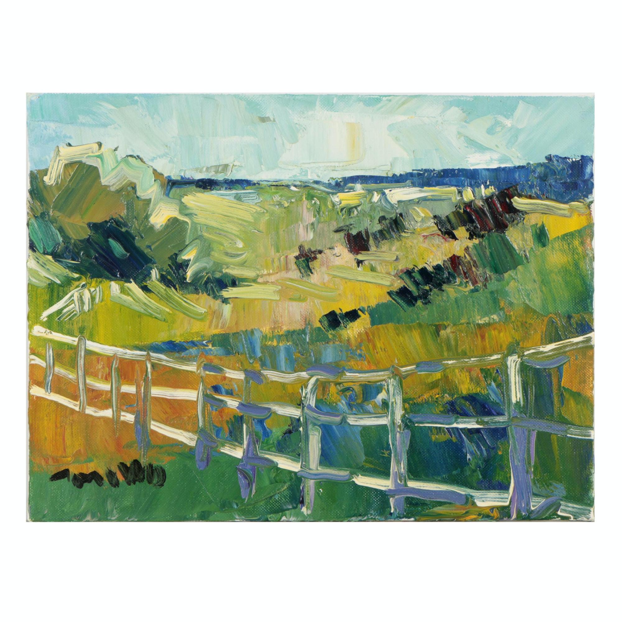 "Jose Trujillo Oil Painting ""Ranch Light"""