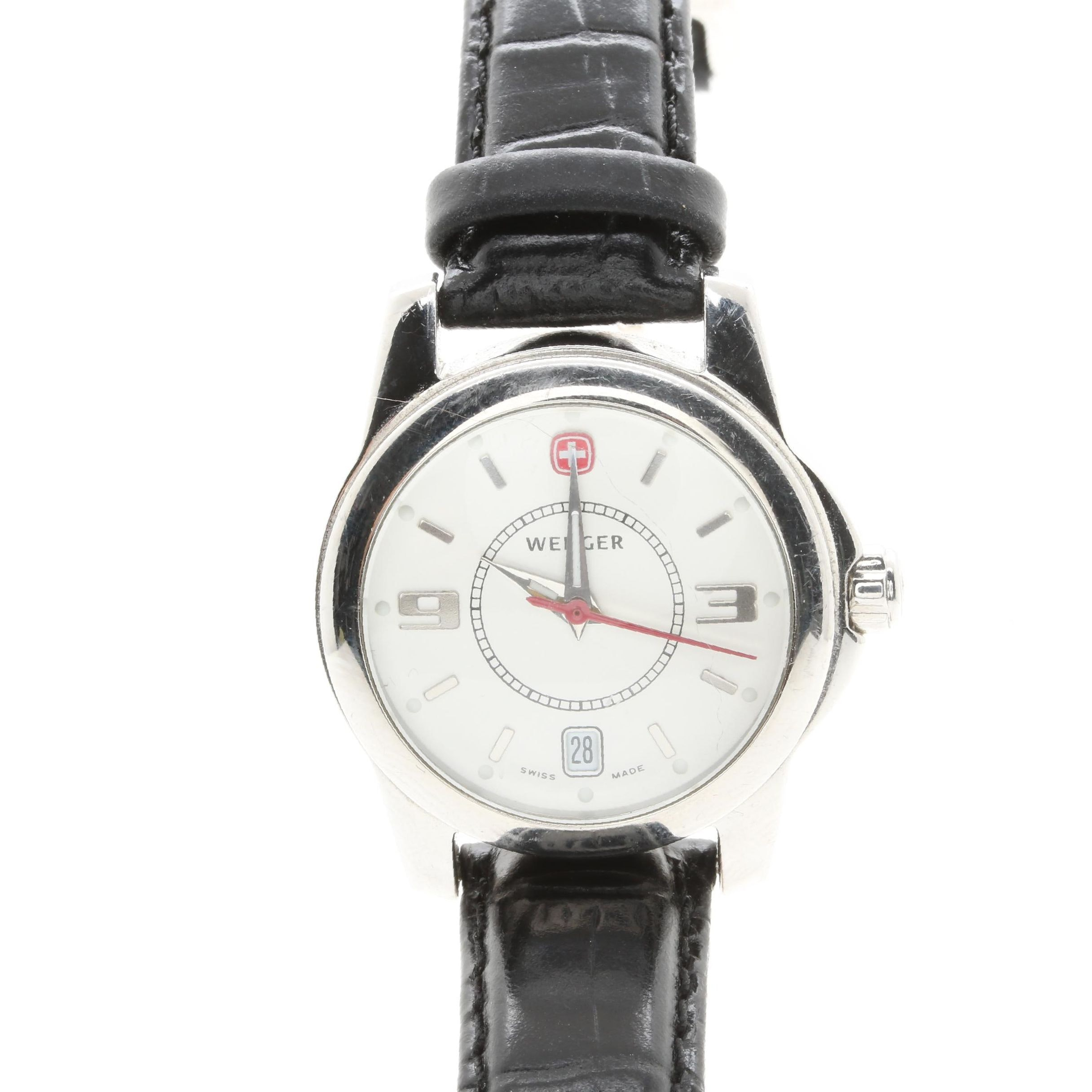 Wenger Silver Tone Wristwatch