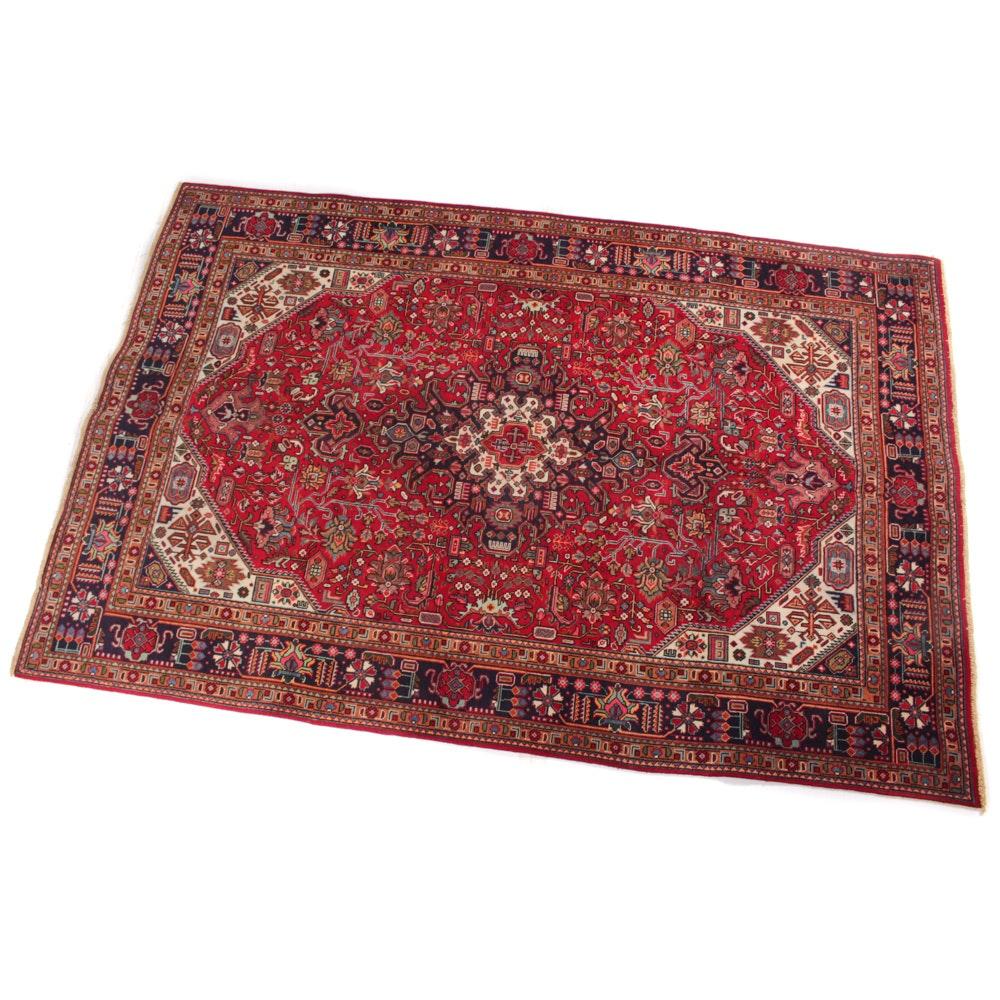 Vintage Hand-Knotted Persian Hajjalili Tabriz Rug