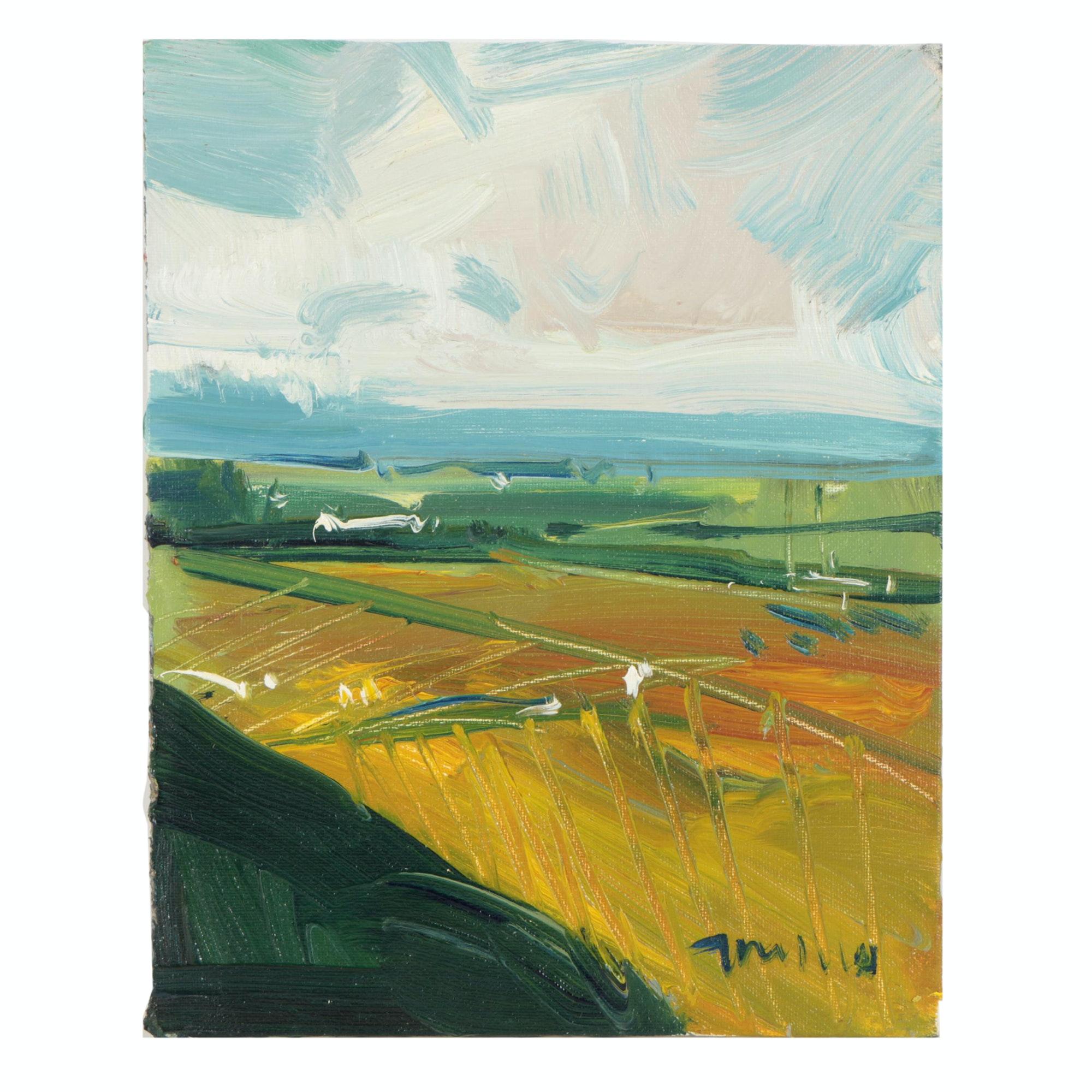 "Jose Trujillo Oil Painting ""Arizona Sky"""