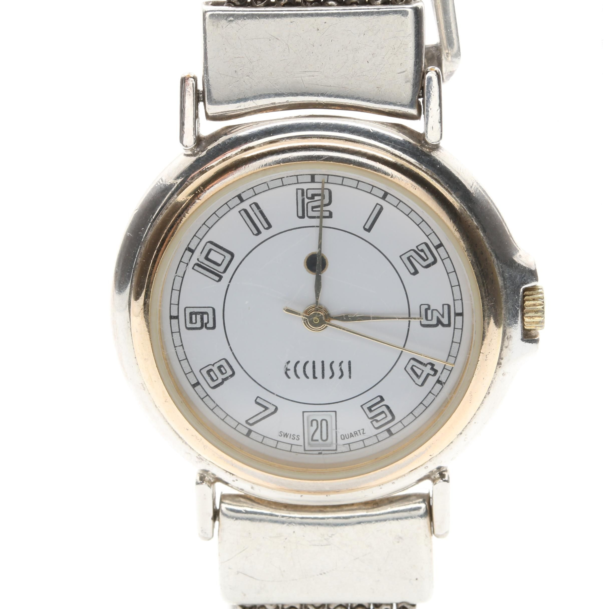 Ecclissi Sterling Silver Wristwatch