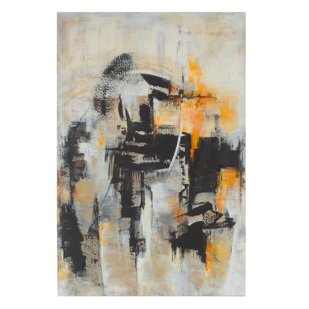 "Sanna Original Abstract Painting ""Merry & Bright"""