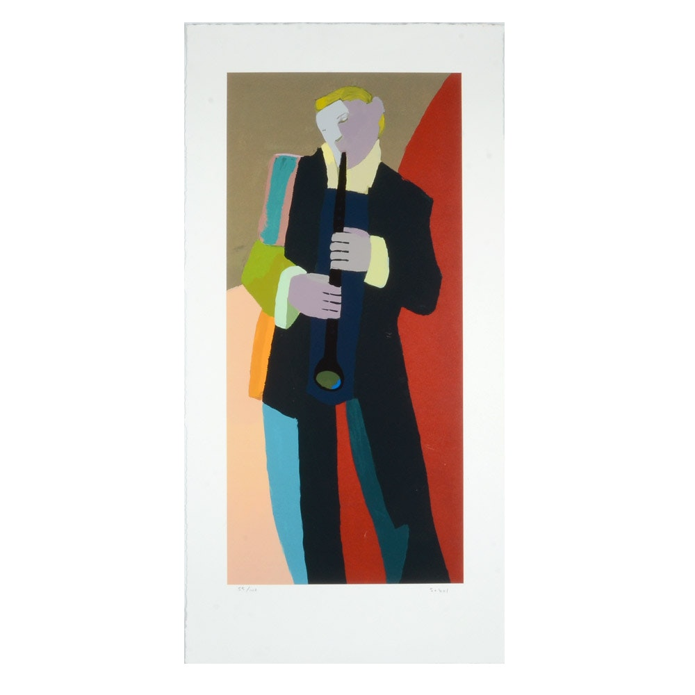 Sobol Limited Edition Serigraph of a Musician