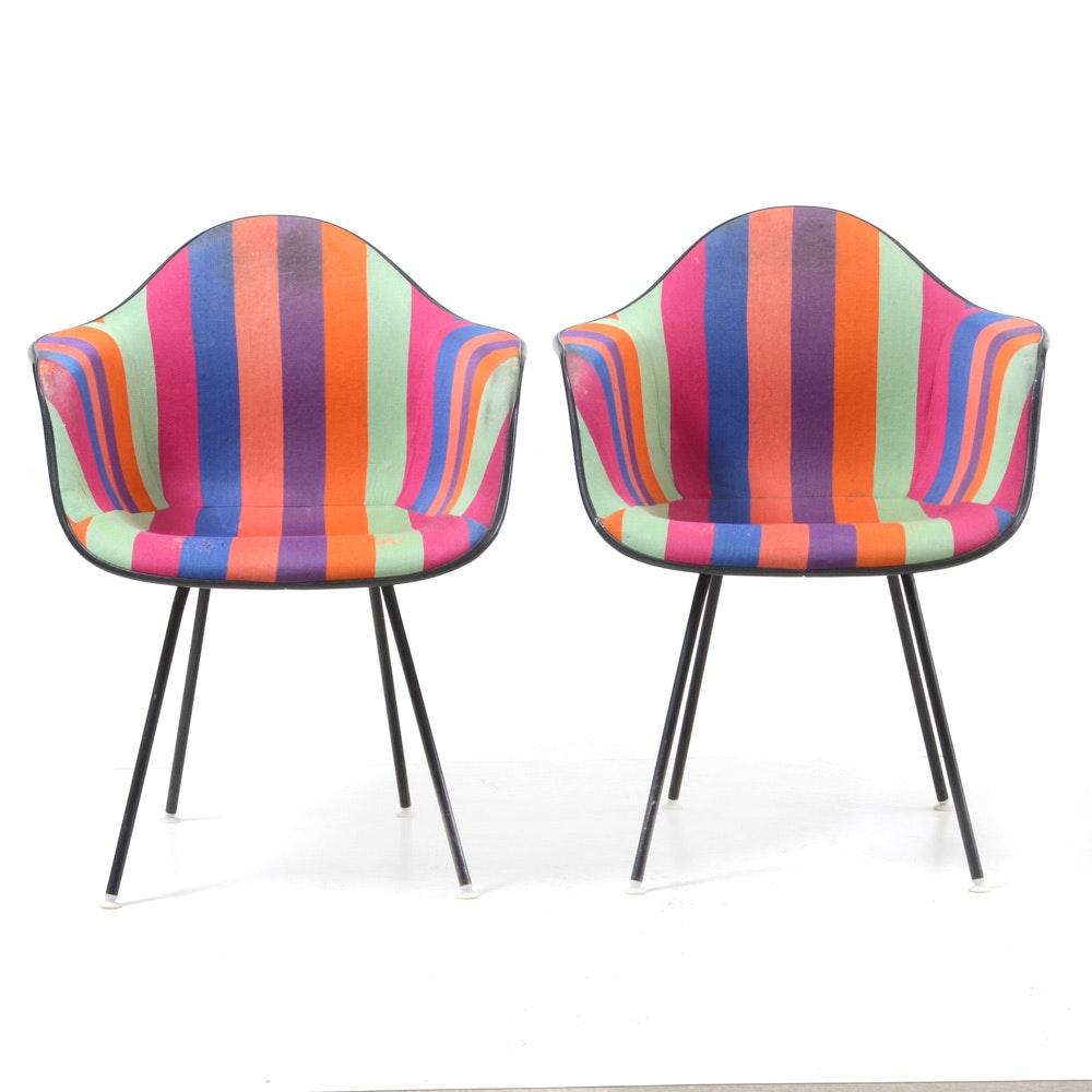 Mid Century Modern Eames for Herman Miller Fiberglass Shell Chairs