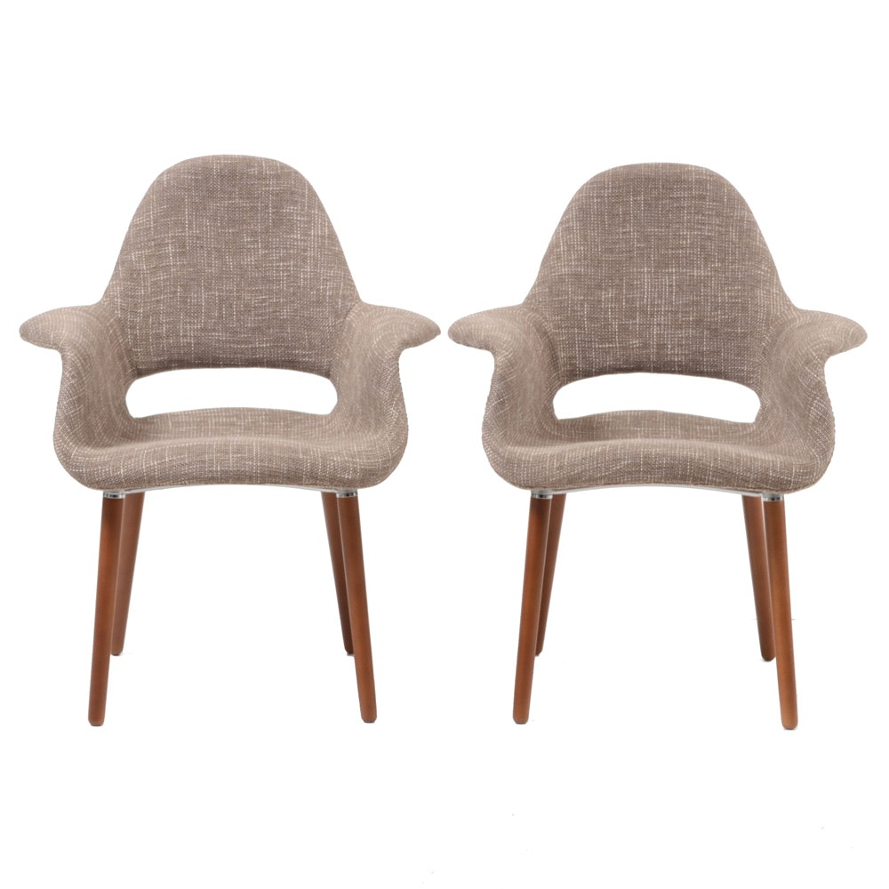 "Pair of Poly & Bark ""Organic"" Armchairs"