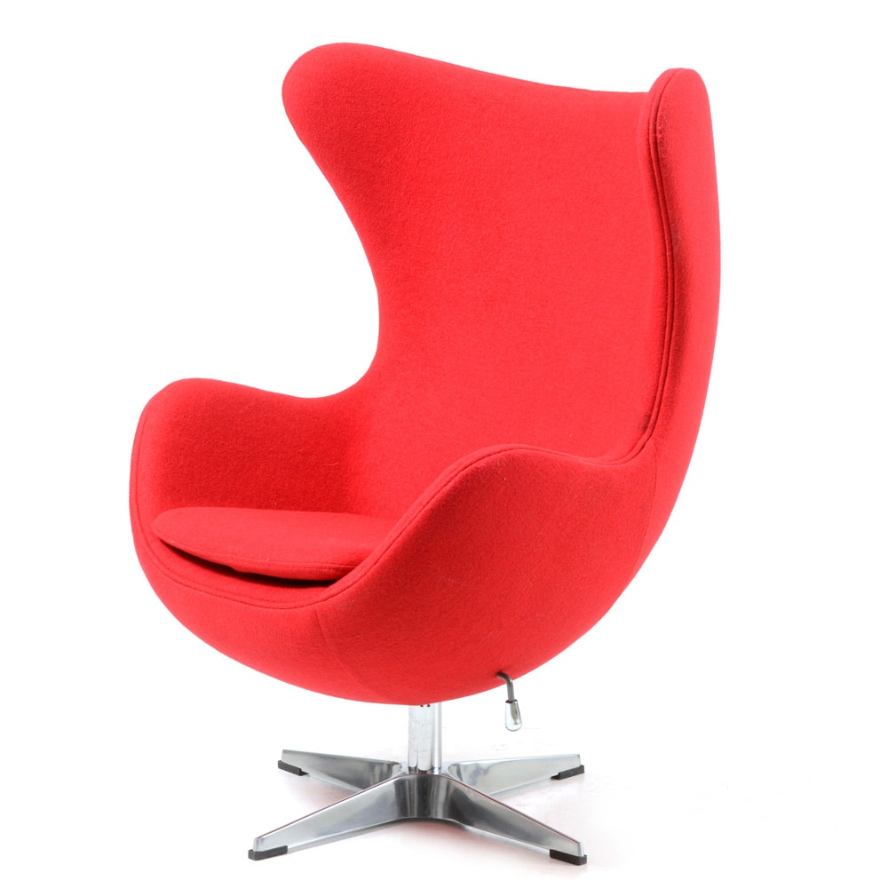 Captivating Red Egg Chair ...