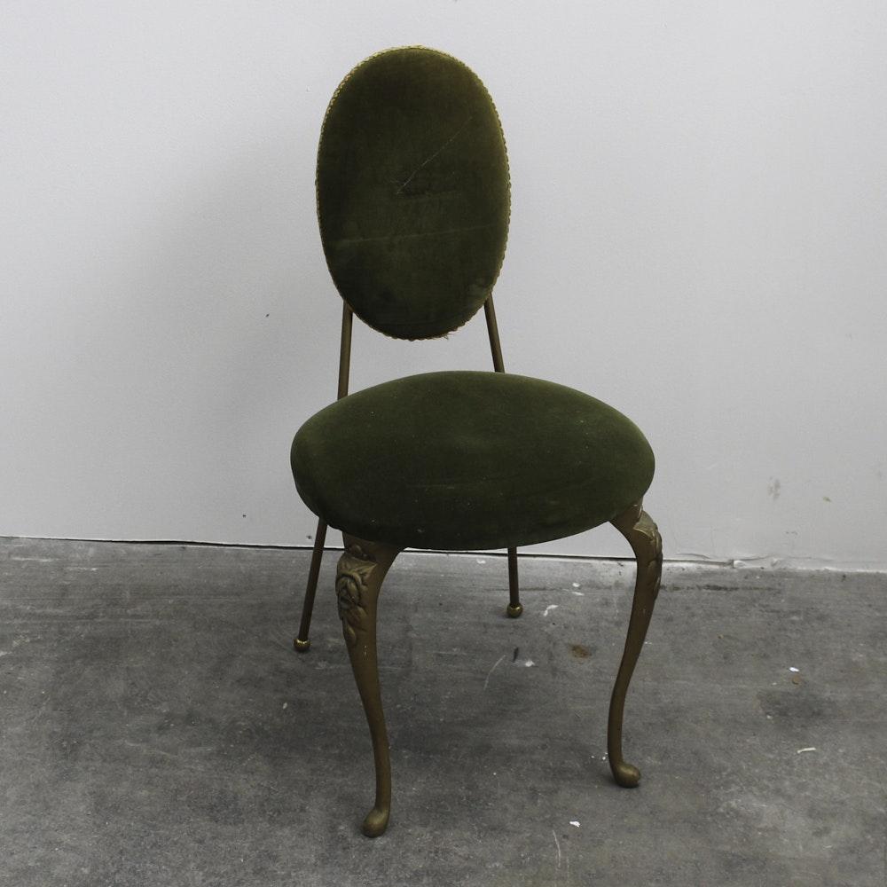 Art Nouveau Green Velvet Vanity Chair ...