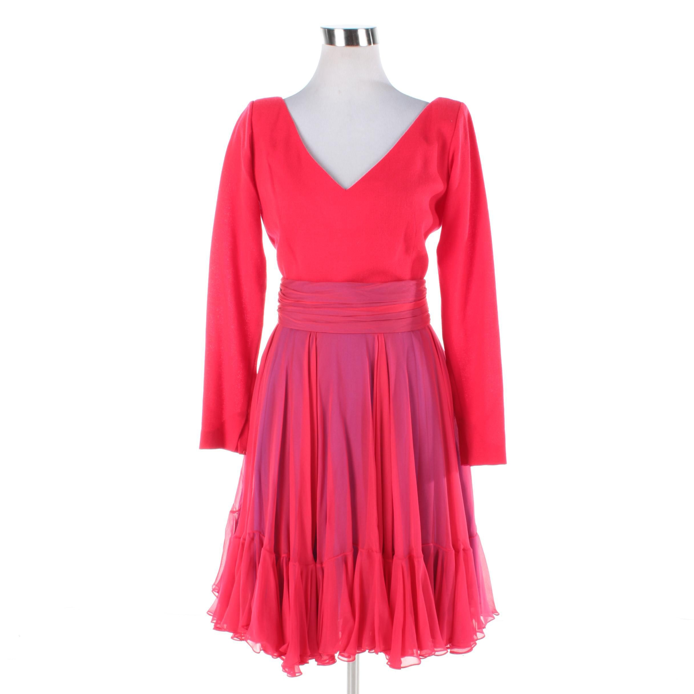 Vintage Travilla Fit and Flare Cocktail Dress