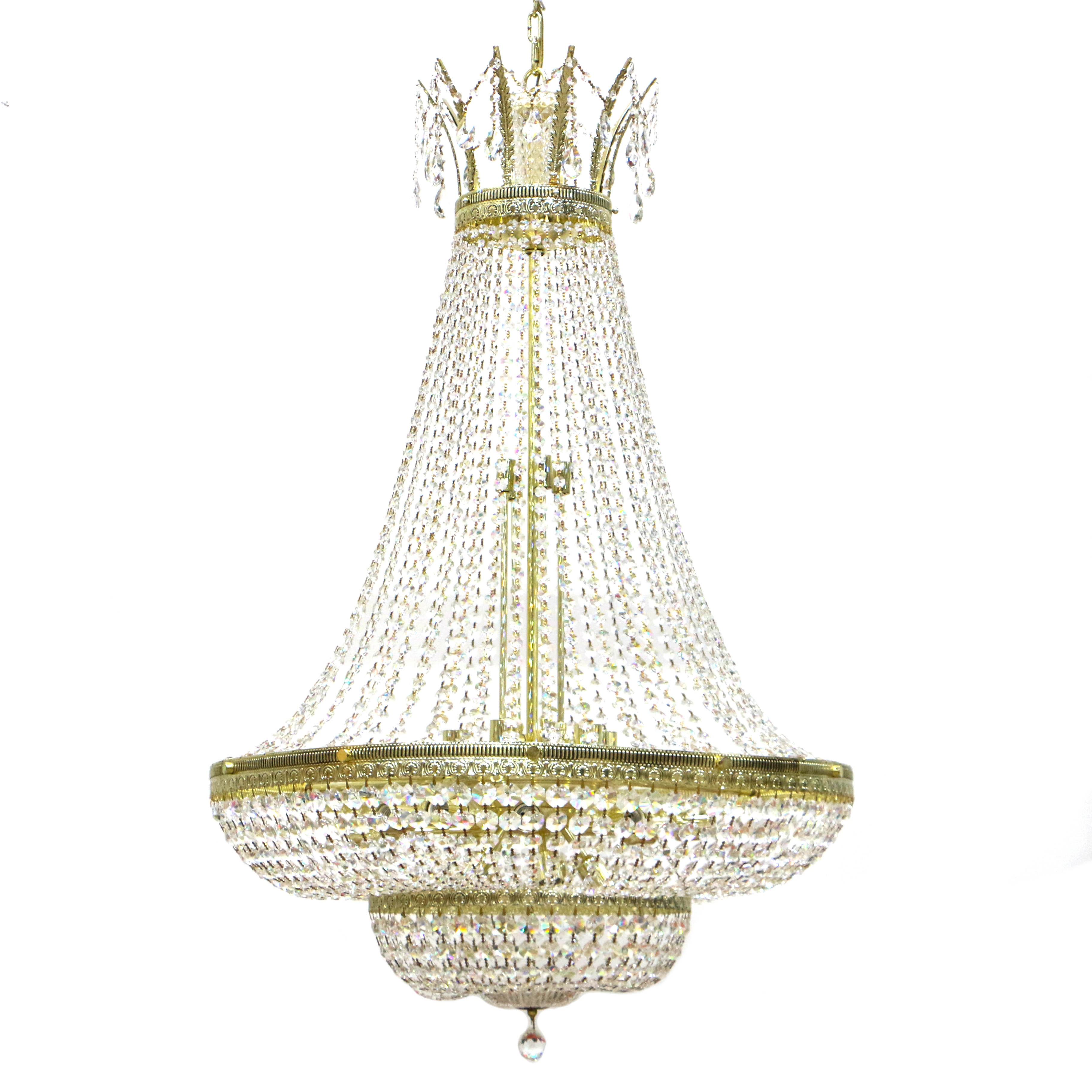 Vintage Schonbek Crystal Chandeliers