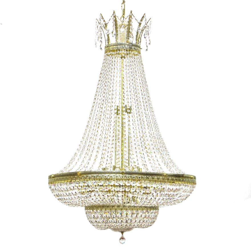 Vintage schonbek crystal chandelier ebth vintage schonbek crystal chandelier aloadofball Images