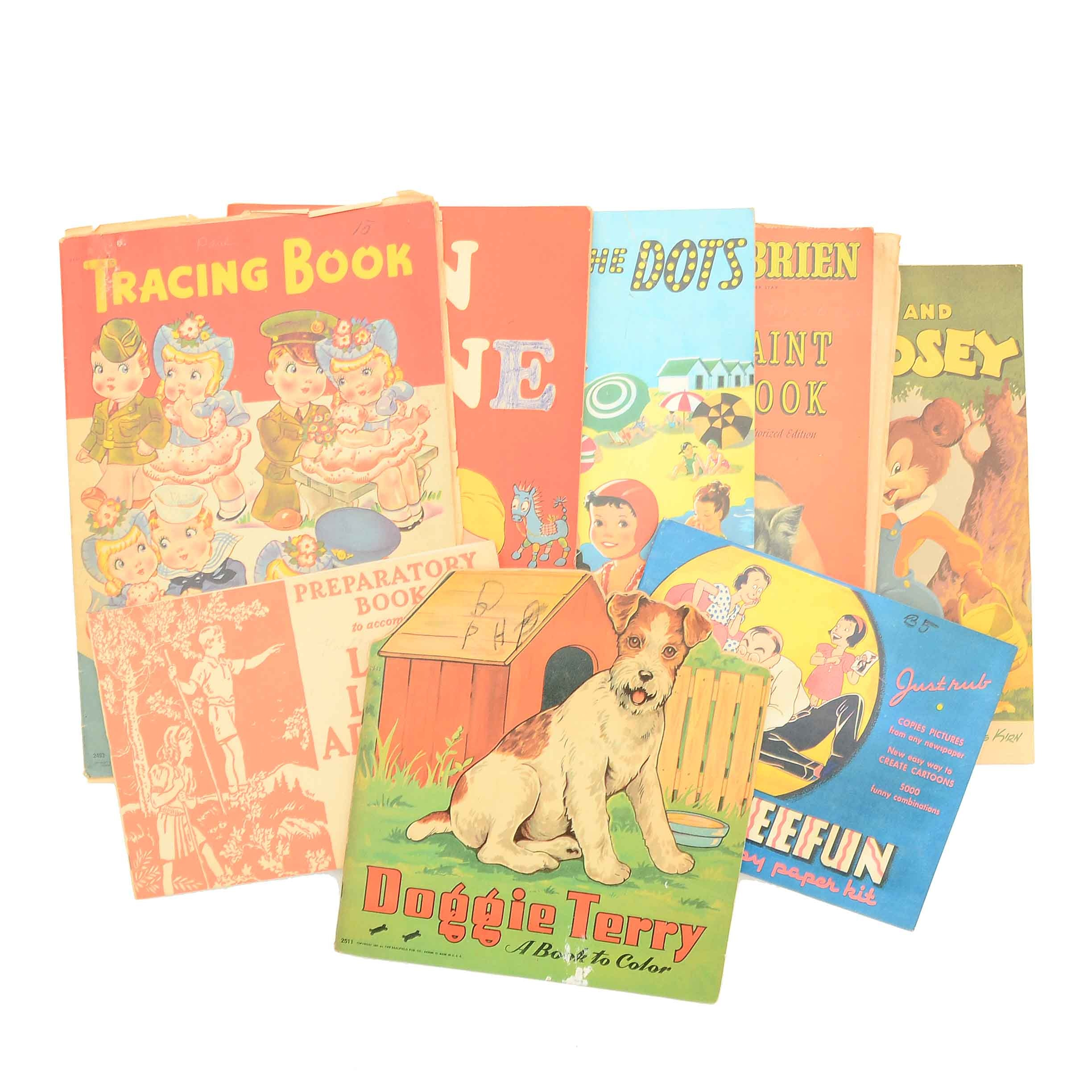 Collection of Vintage Children's Activity Books
