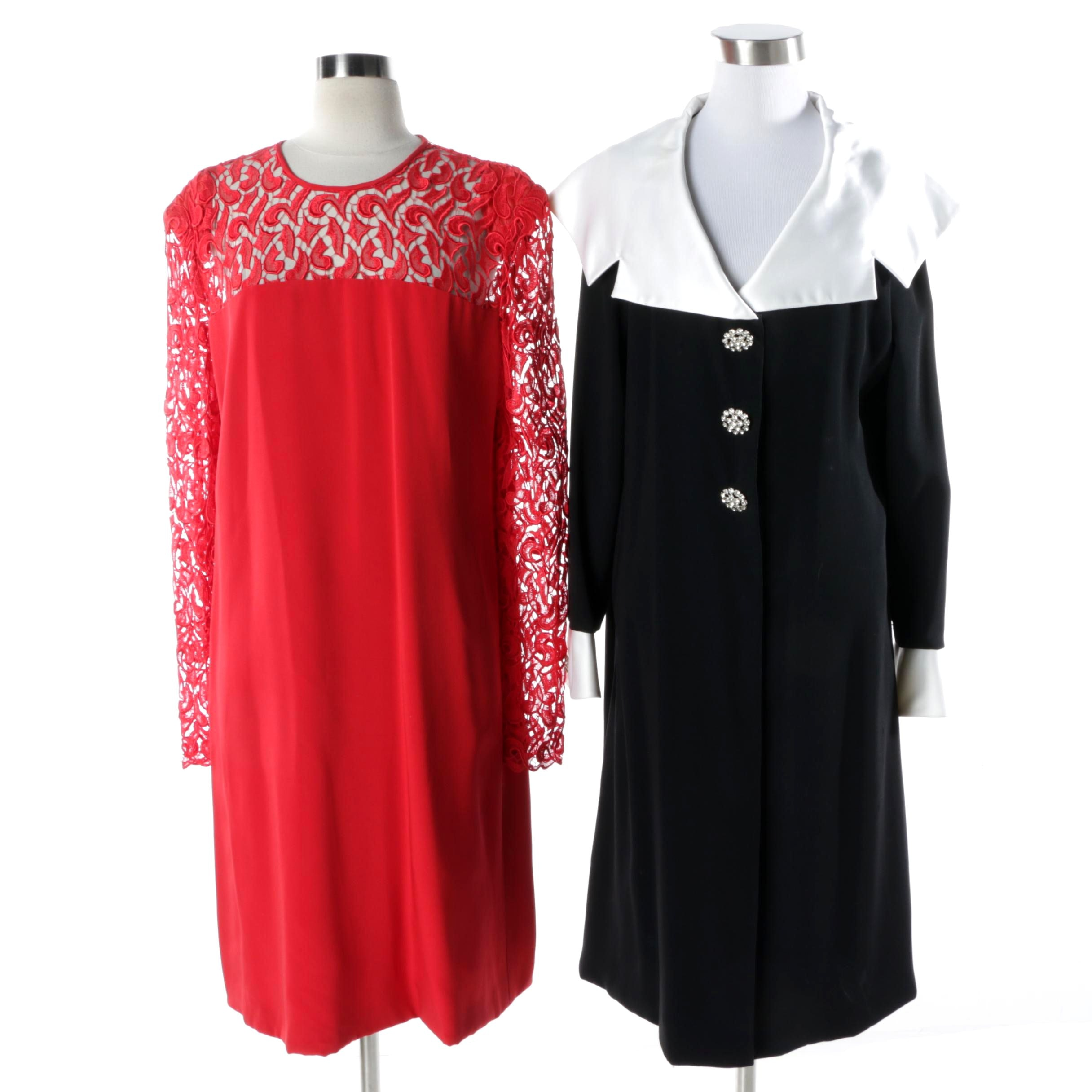 Women's Travilla Brand Dresses Including Red Lace