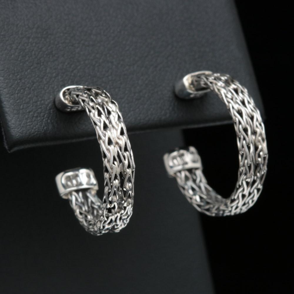 Robert Manse Sterling Silver Woven Hoop Earrings
