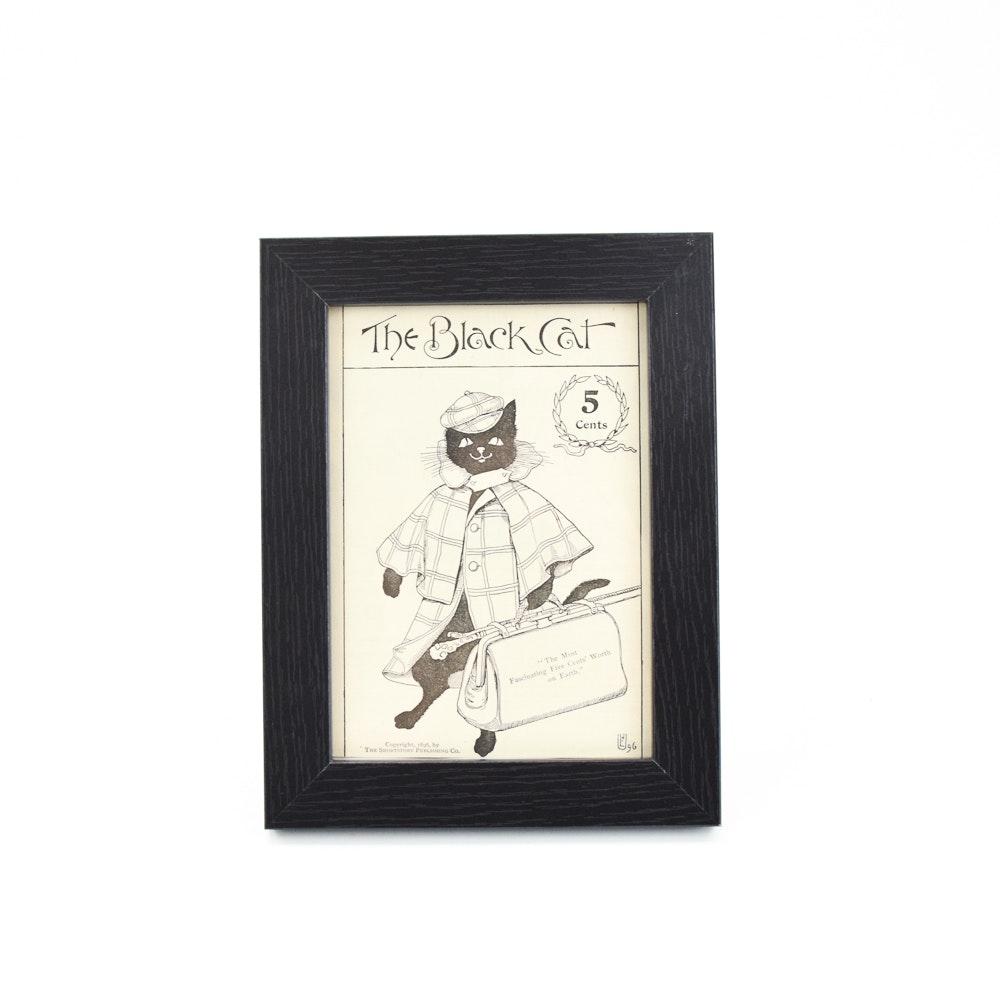 """""""McClure's"""" Magazine Ad """"The Black Cat"""""""