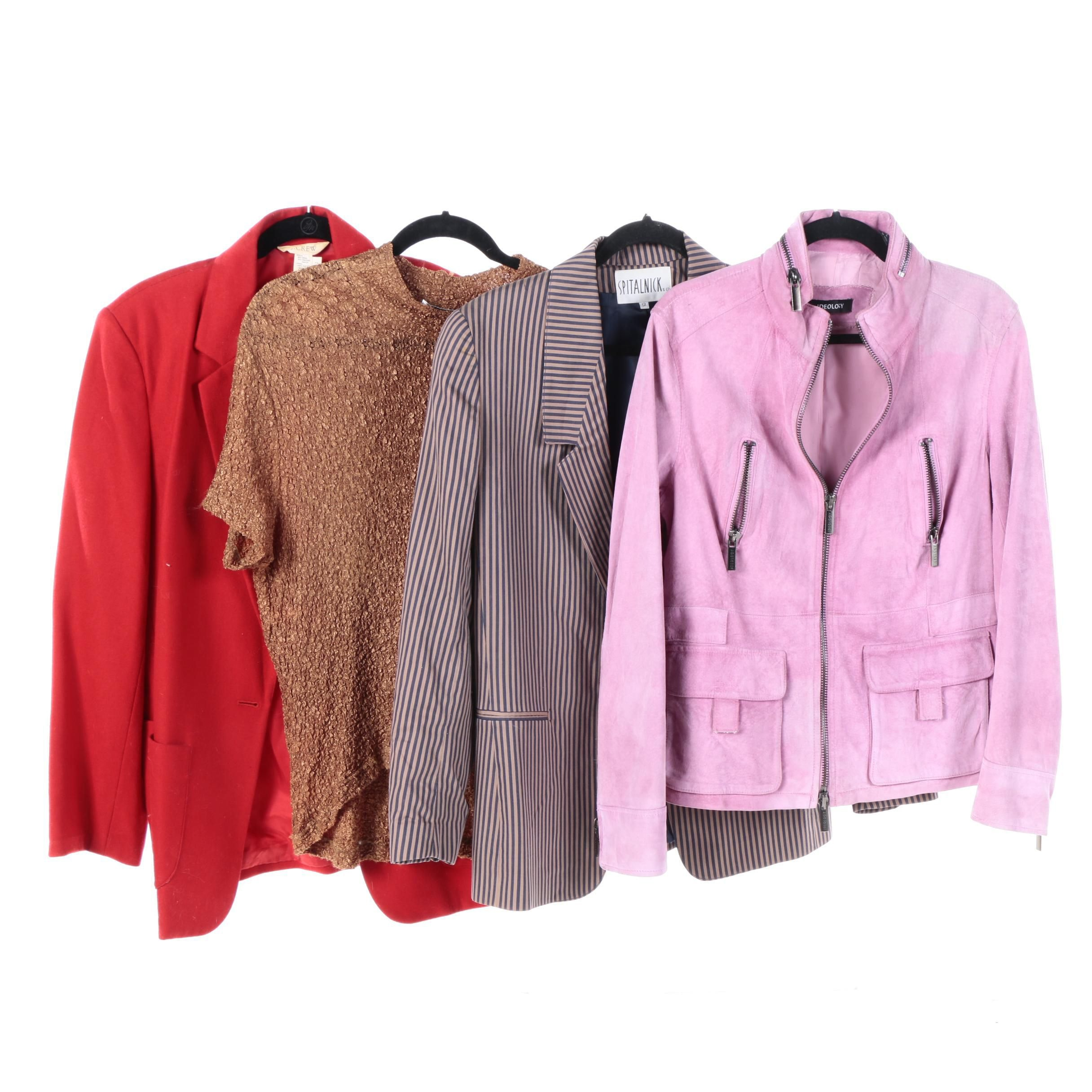 Women's Jackets and Blouse Including J.Crew and Ideology